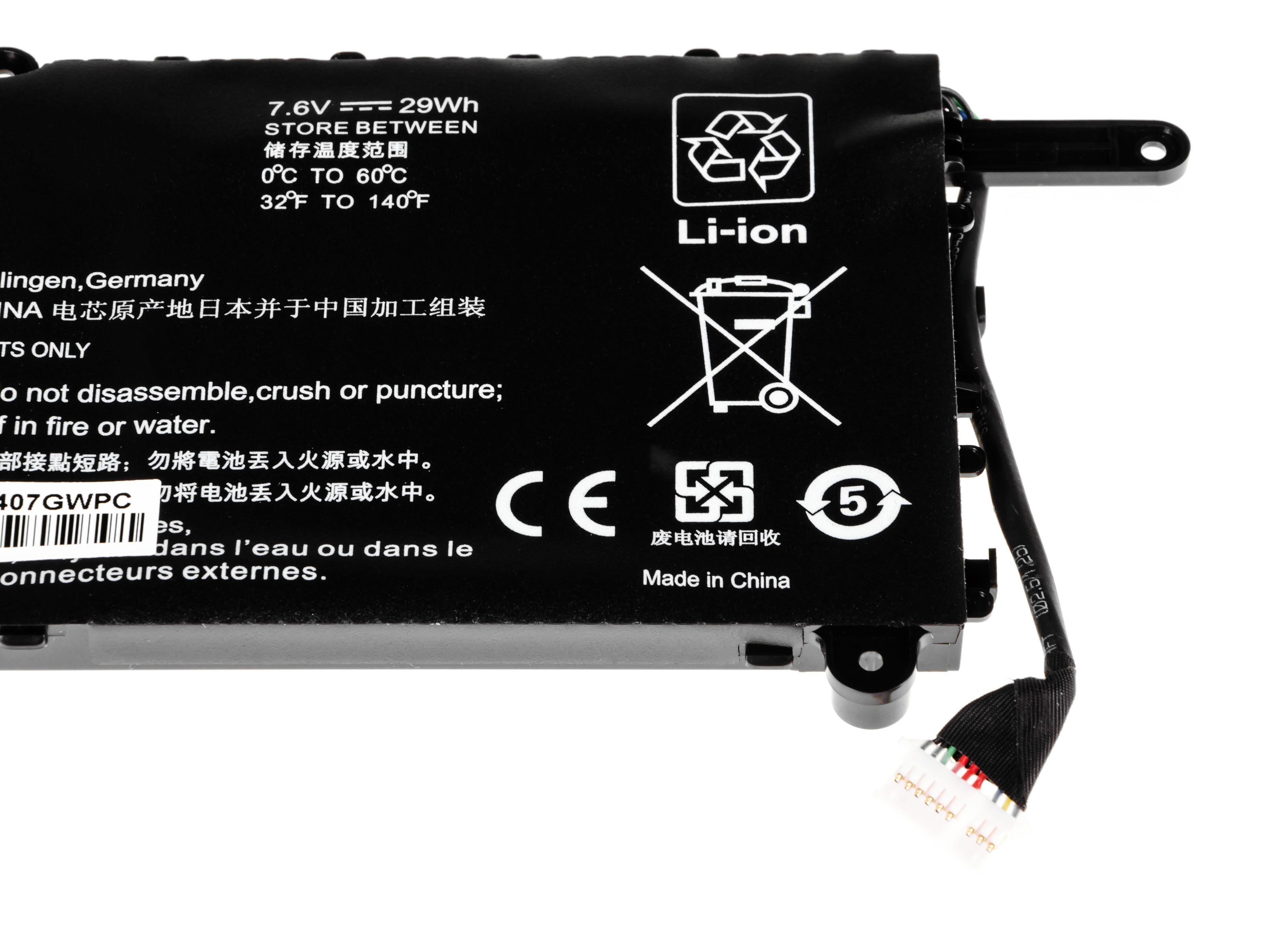 Green Cell HP103 Baterie HP PL02XL HP Pavilion x360 11-N HP x360 310 G1 3800mAh Li-Pol - neoriginální