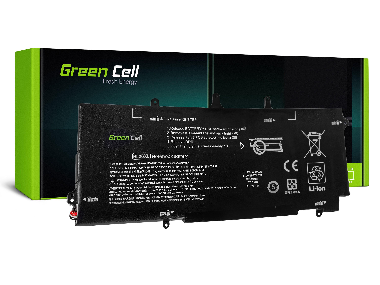 Green Cell HP108 Baterie HP BL06XL HSTNN-DB5D 722297-001 722236-2C1 HP EliteBook Folio 1040 G1 G2 3800mAh Li-Pol - neoriginální