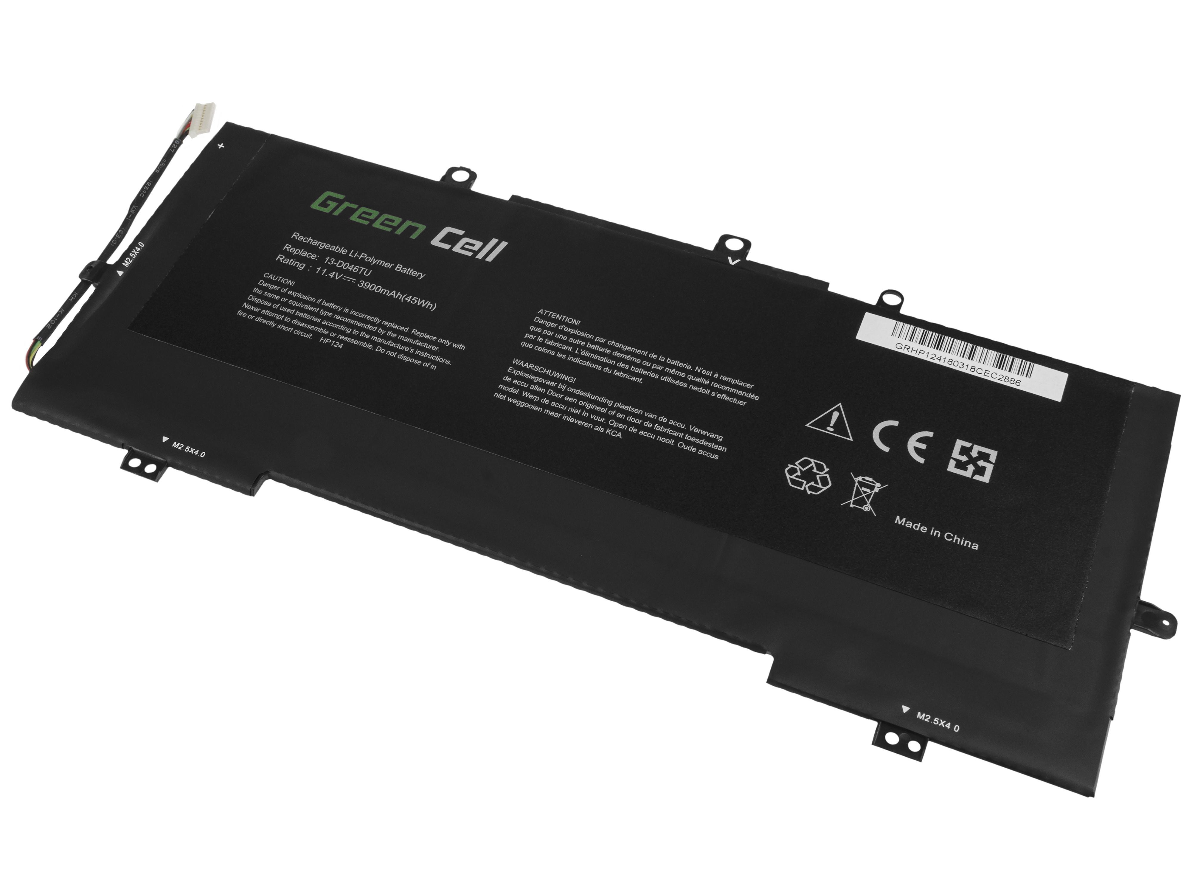Green Cell HP124 Baterie HP Envy 13-D 13-D010NW 13-D011NW 13-D020NW 13-D150NW VR03XL 3270mAh Li-Pol – neoriginální