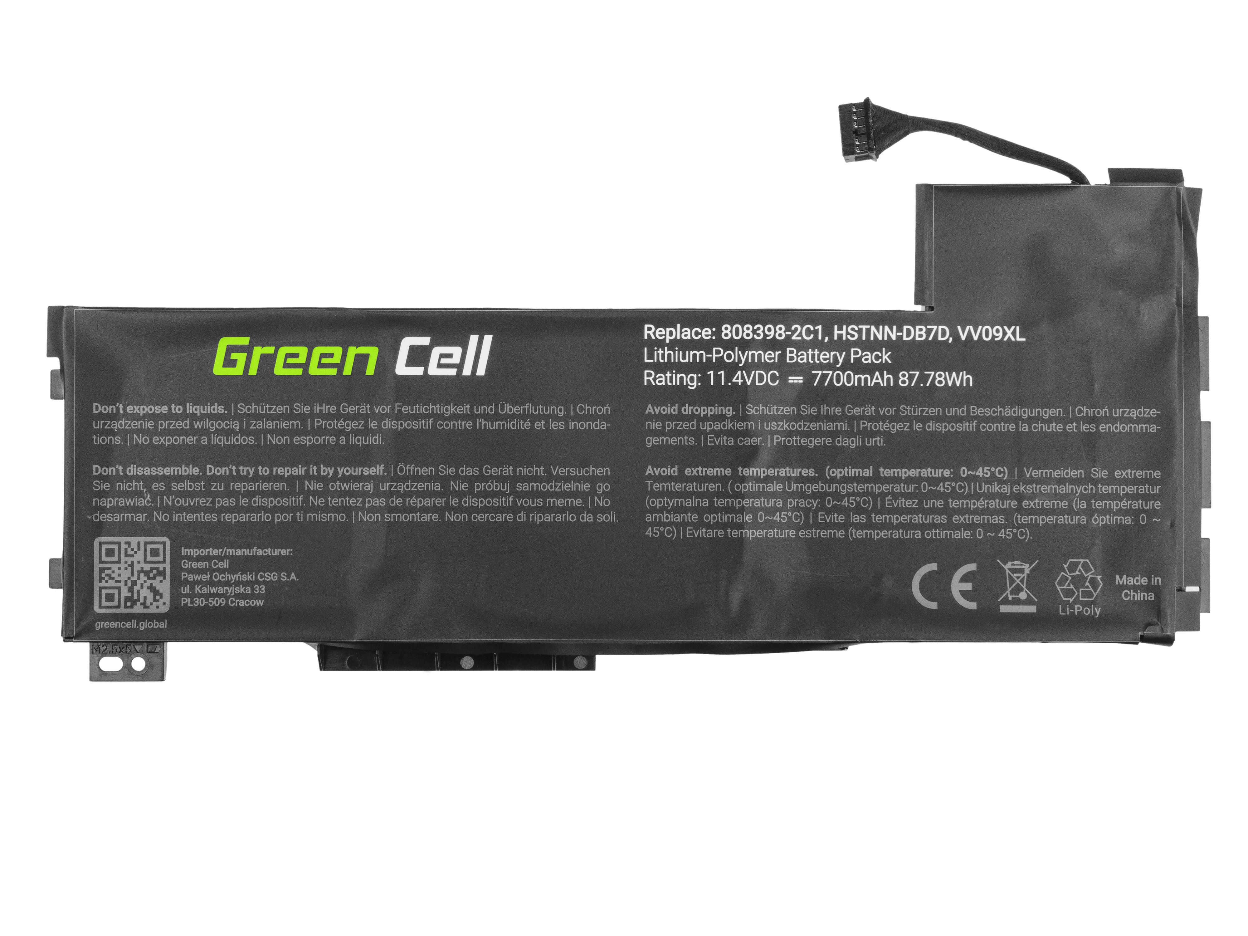 Green Cell HP136 Baterie HP VV09XL HP ZBook 15 G3 G4 7700mAh Li-Pol - neoriginální