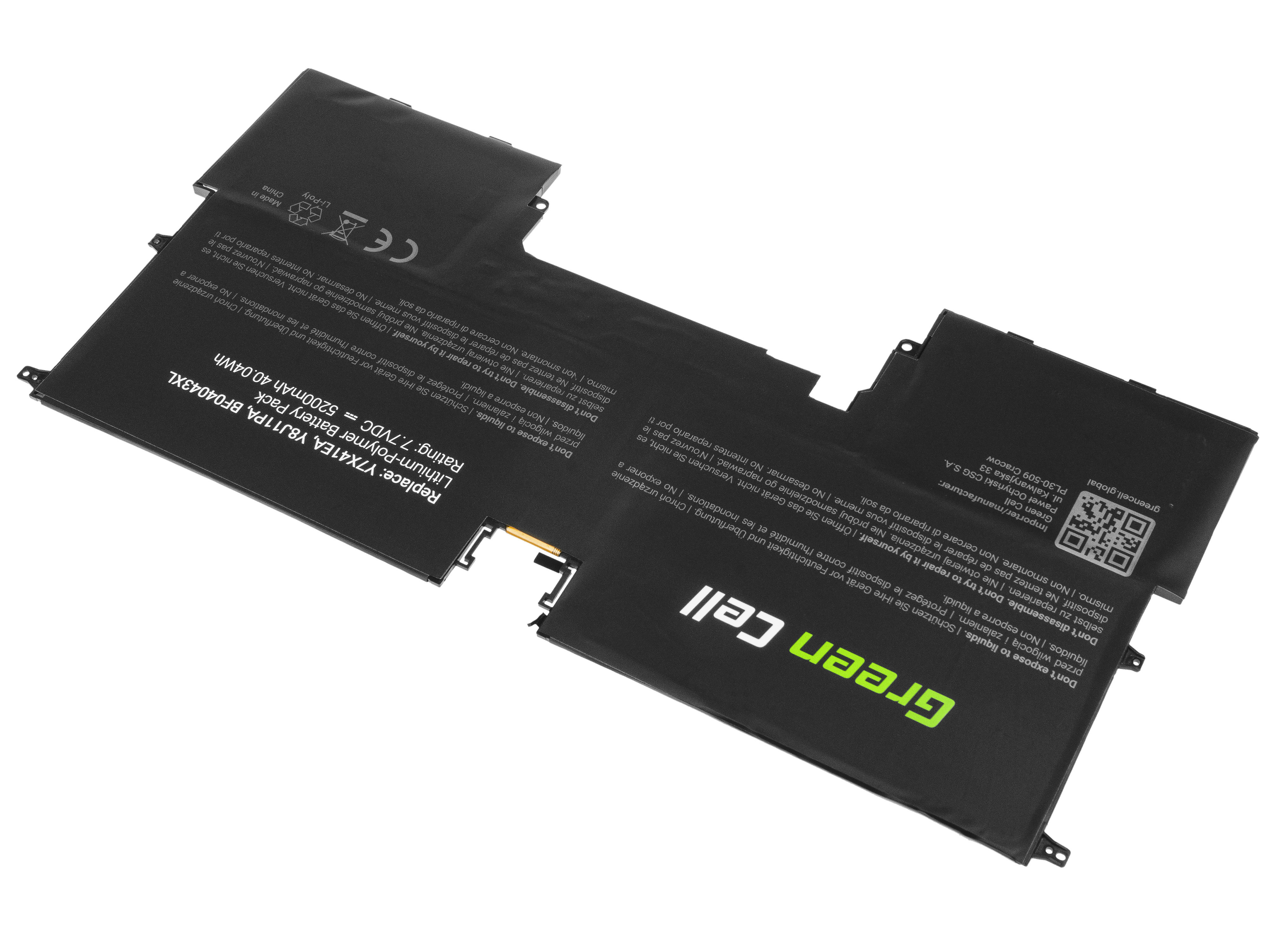 Green Cell Baterie pro HP Spectre 13 13T / 7,7V 5200mAh