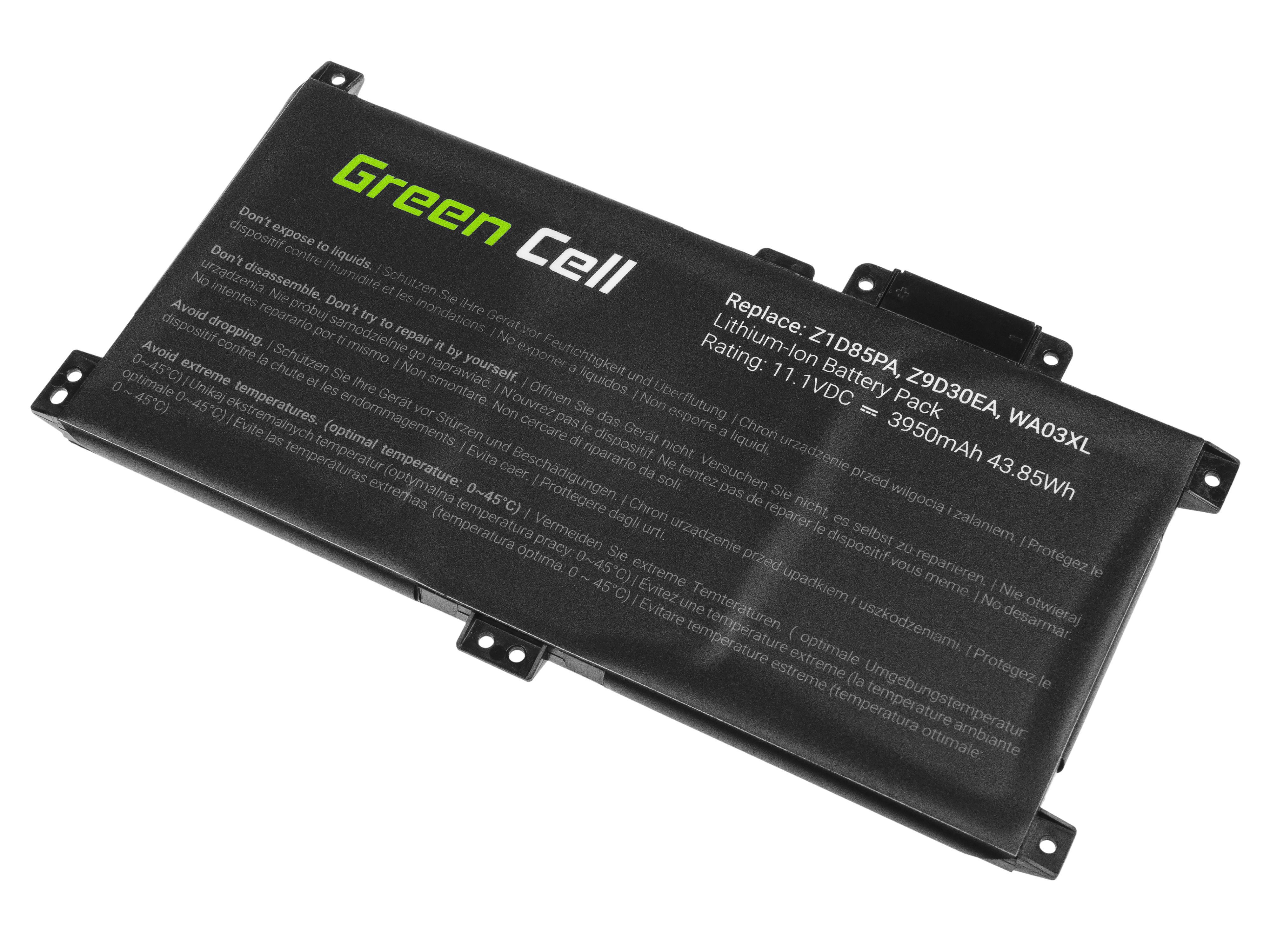 Green Cell HP138 Baterie HP WA03XL HP Pavilion x360 15-BR 15-BR004NW 15-BR005NW 3950mAh Li-Pol - neoriginální