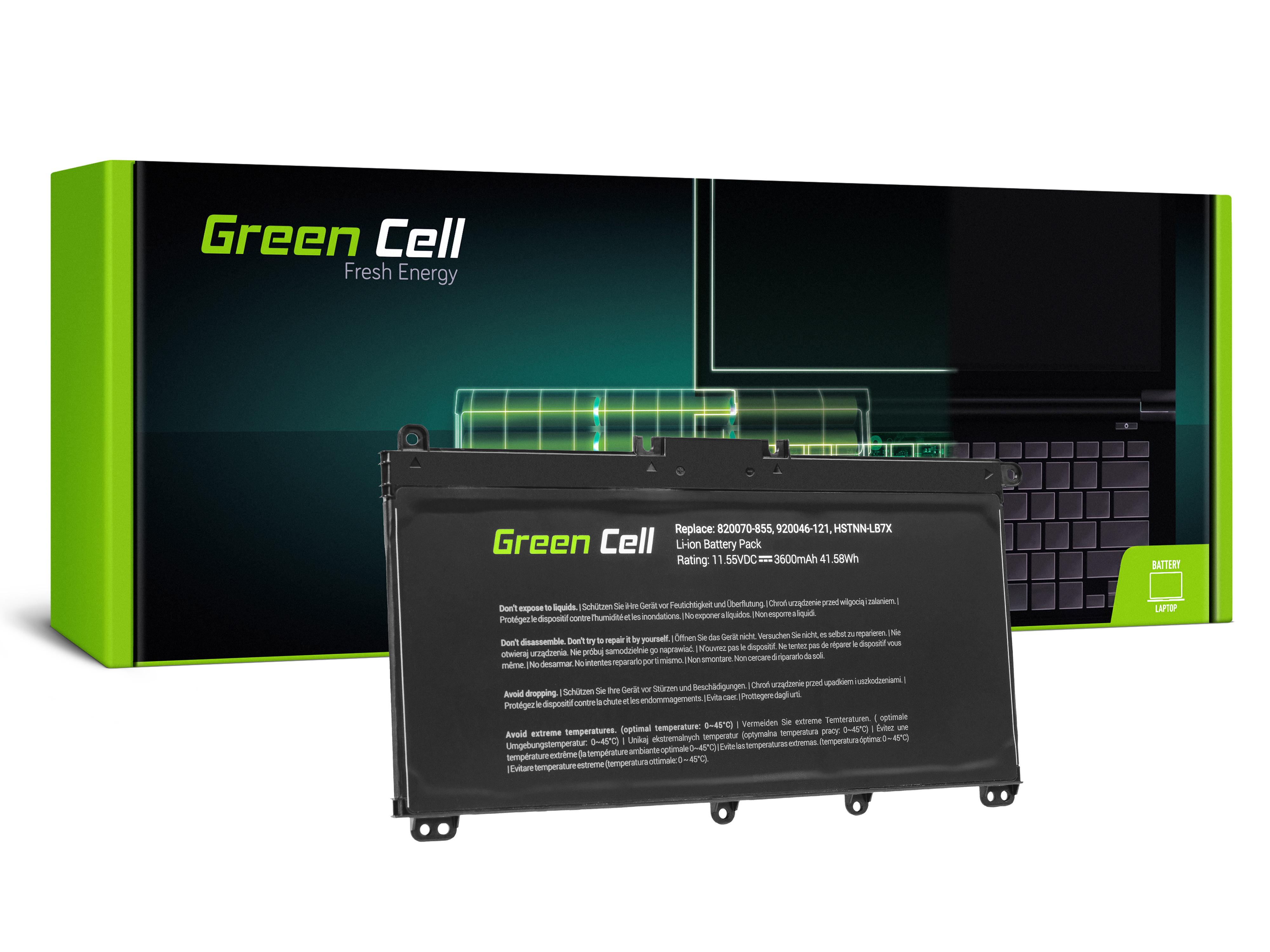 Green Cell HP145 Baterie HP TF03XL HSTNN-LB7X 920046-421 HP 14-BP Pavilion 14-BF 14-BK 15-CC 15-CD 3400mAh Li-Pol - neoriginální