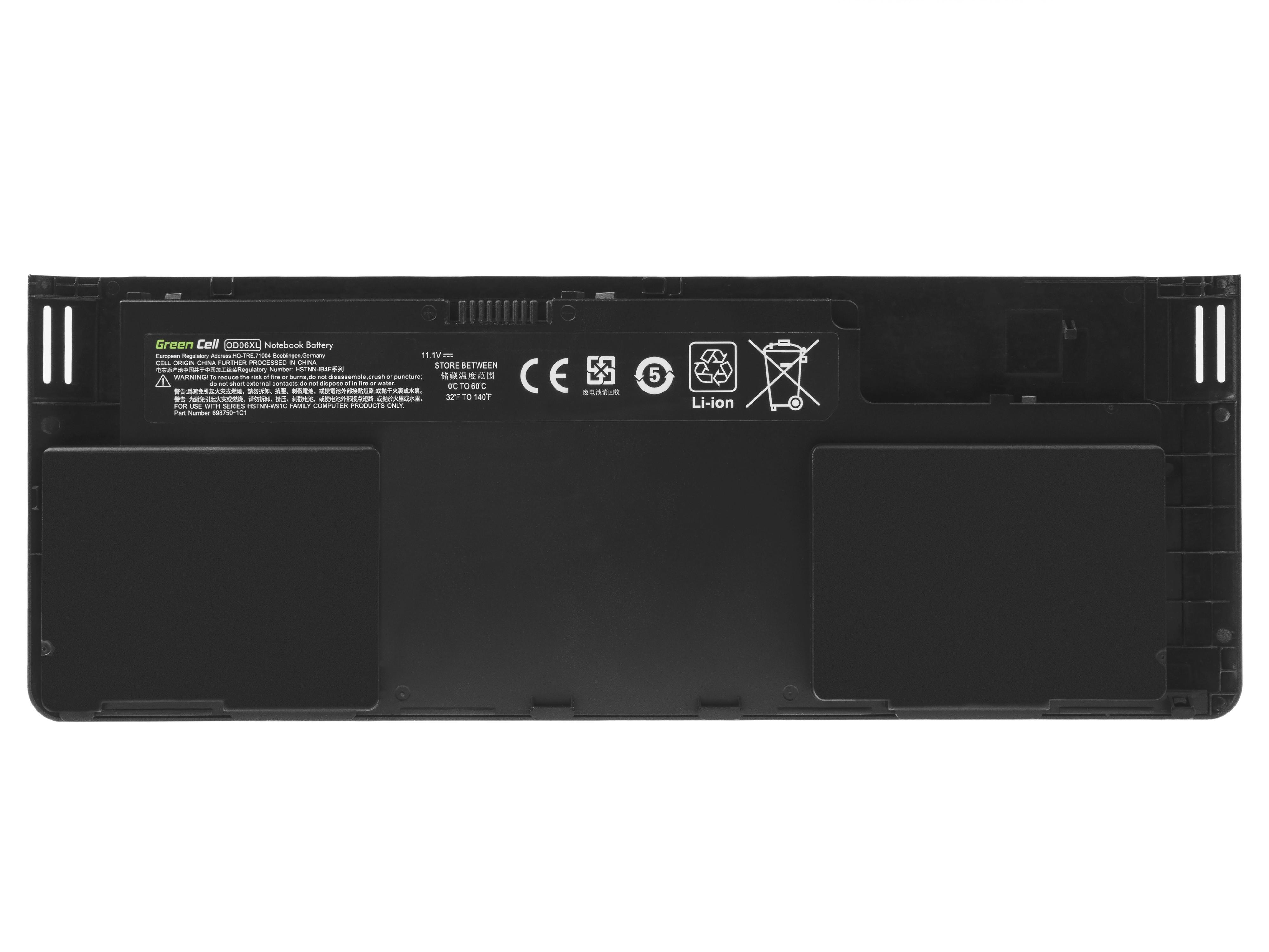 Green Cell HP148 Baterie HP OD06XL HSTNN-IB4F HP EliteBook Revolve 810 G1 G2 G3 3400mAh Li-Pol – neoriginální