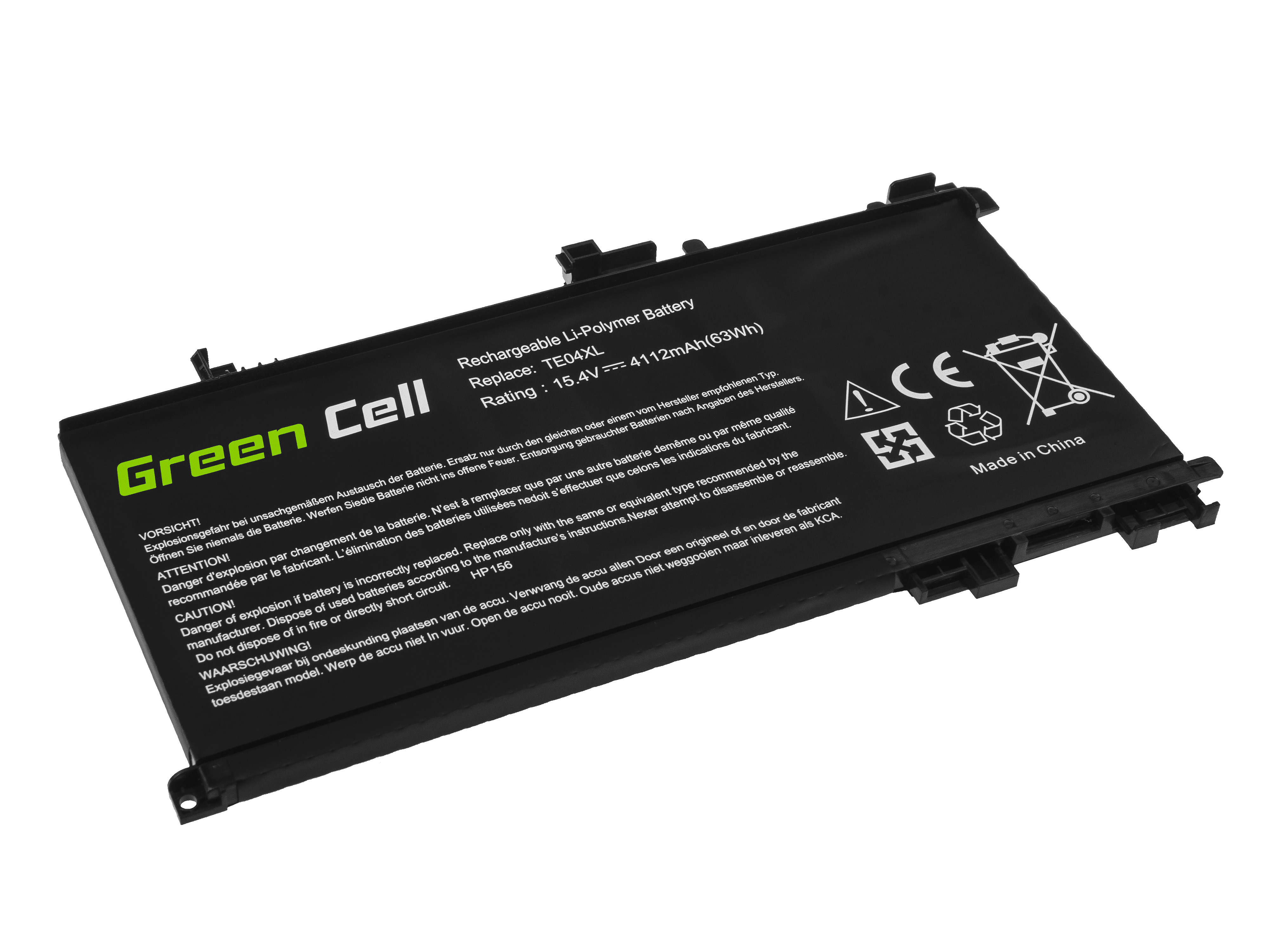 Green Cell Battery TE04XL for HP Omen 15-AX 15-AX052NW 15-AX204NW 15-AX205NW 15-AX212NW 15-AX213NW Pavilion 15-BC050NW