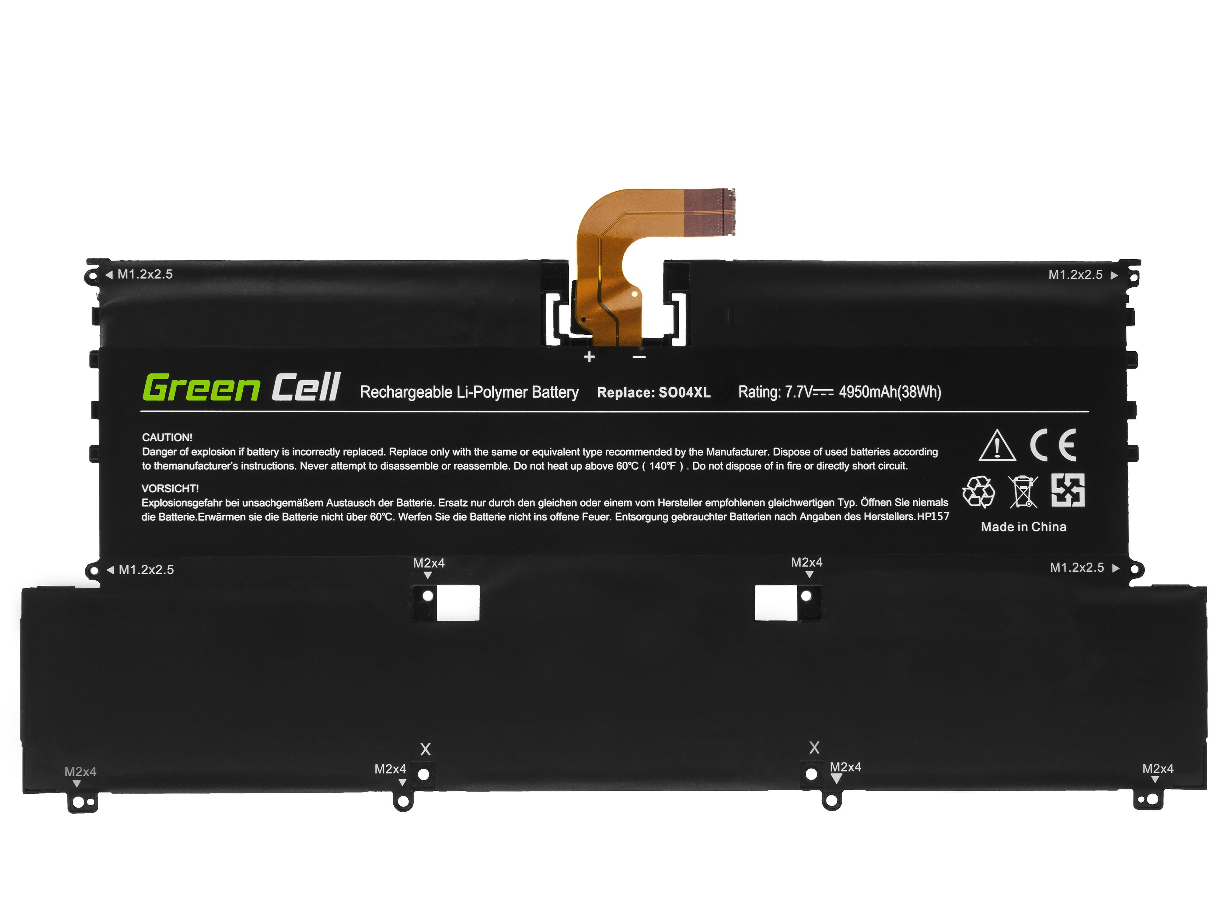 Green Cell HP157 Baterie HP SO04XL, HP Spectre 13-V 13-V050NW 13-V070NW 13-V150NW 13-V170NW Spectre Pro 13 G1 4750mAh Li-Pol – neoriginální