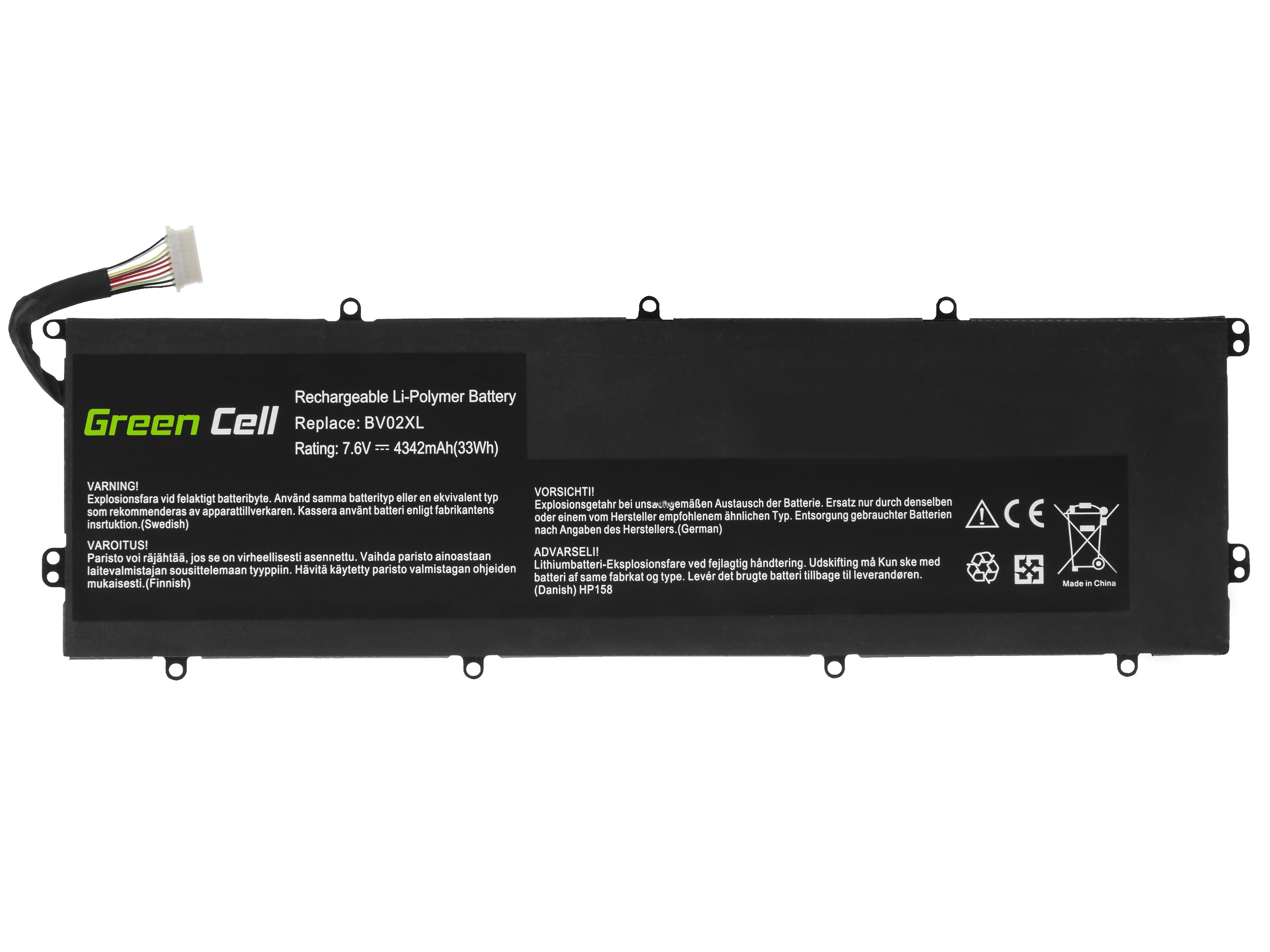 Green Cell HP158 Baterie HP BV02XL, HP Envy x2 13-J 13-J010NW 13-J011NW 4342mAh Li-Pol – neoriginální