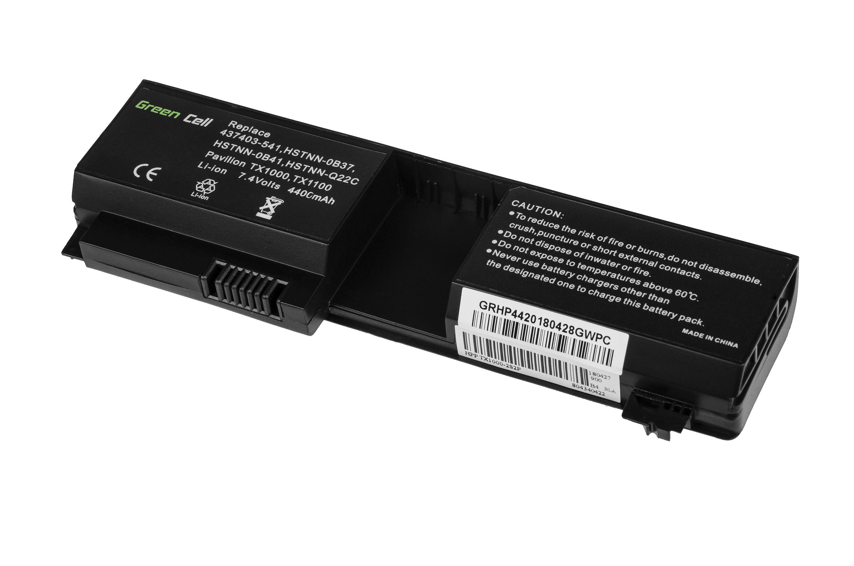 Green Cell HP44 Baterie HP HSTNN-OB37 HP Pavilion TX1000 TX2000 TX2500 TouchSmart TX2 4400mAh Li-ion - neoriginální