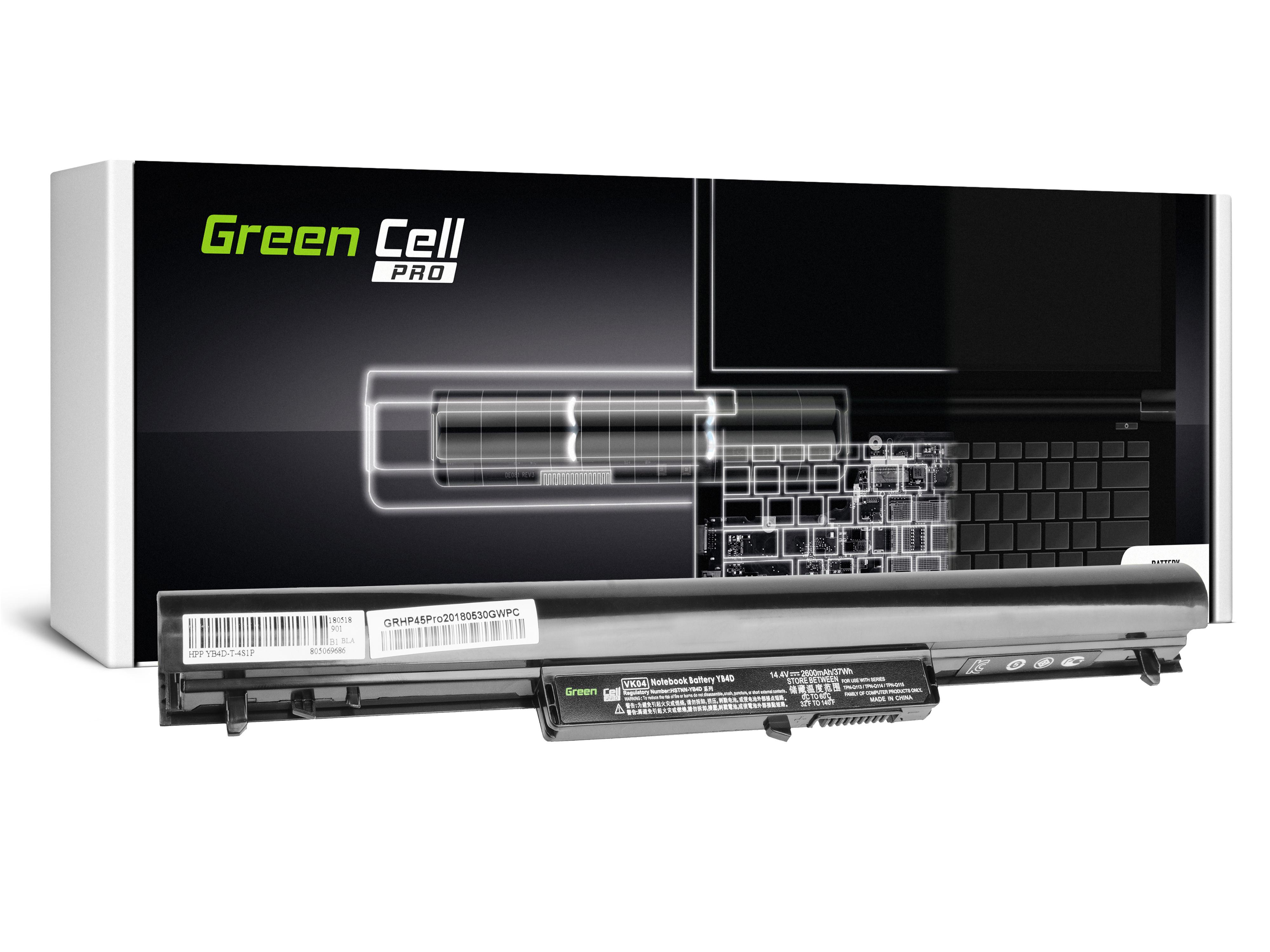 Green Cell HP45PRO Baterie HP VK04 HSTNN-YB4D do HP Pavilion 14-B 14-C 15-B M4 HP 242 G1 G2 2600mAh Li-ion - neoriginální