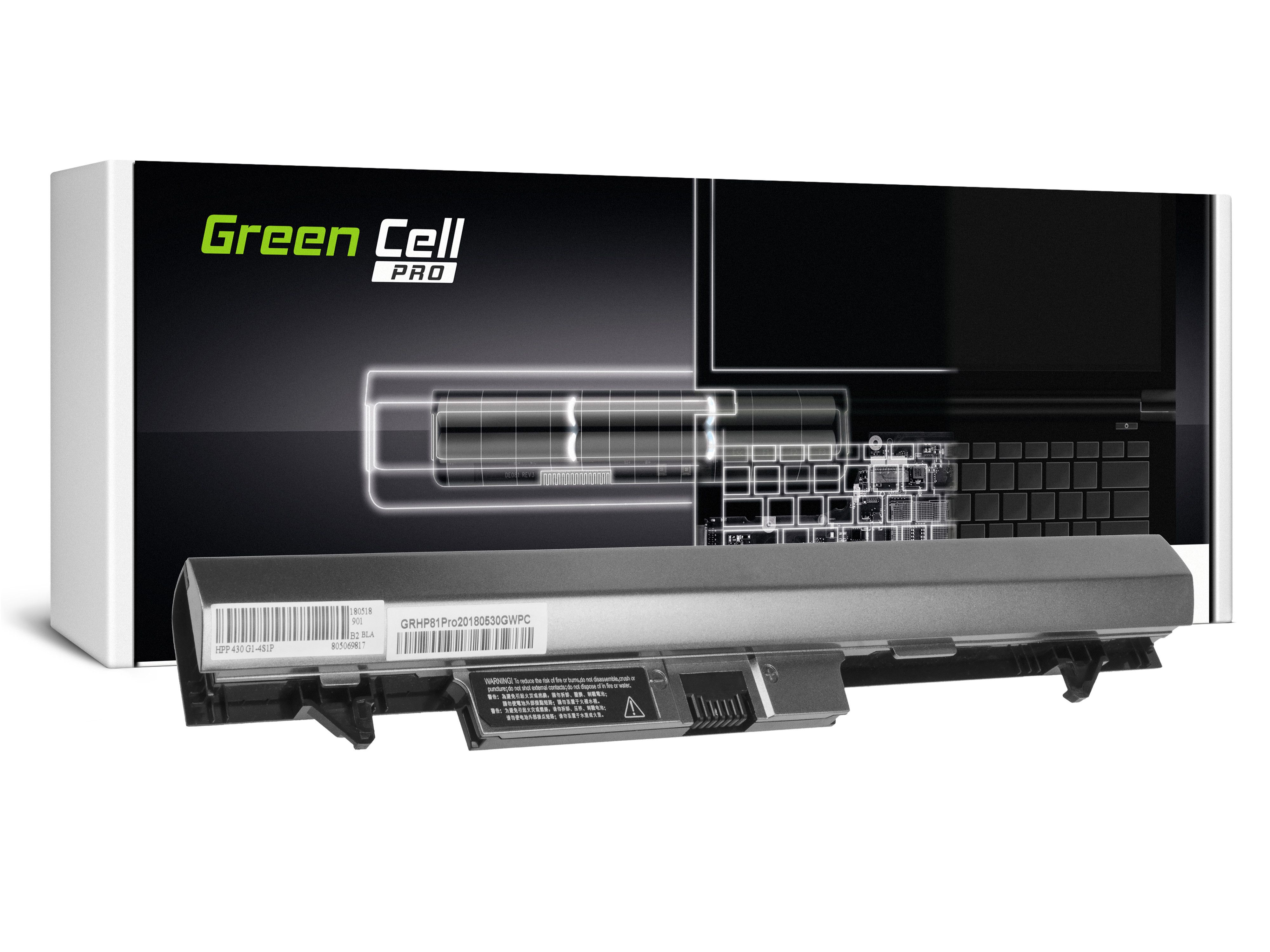 Green Cell HP81PRO Baterie HP HSTNN-IB4L RA04 pro HP ProBook 430 G1 G2 2600mAh Li-ion - neoriginální