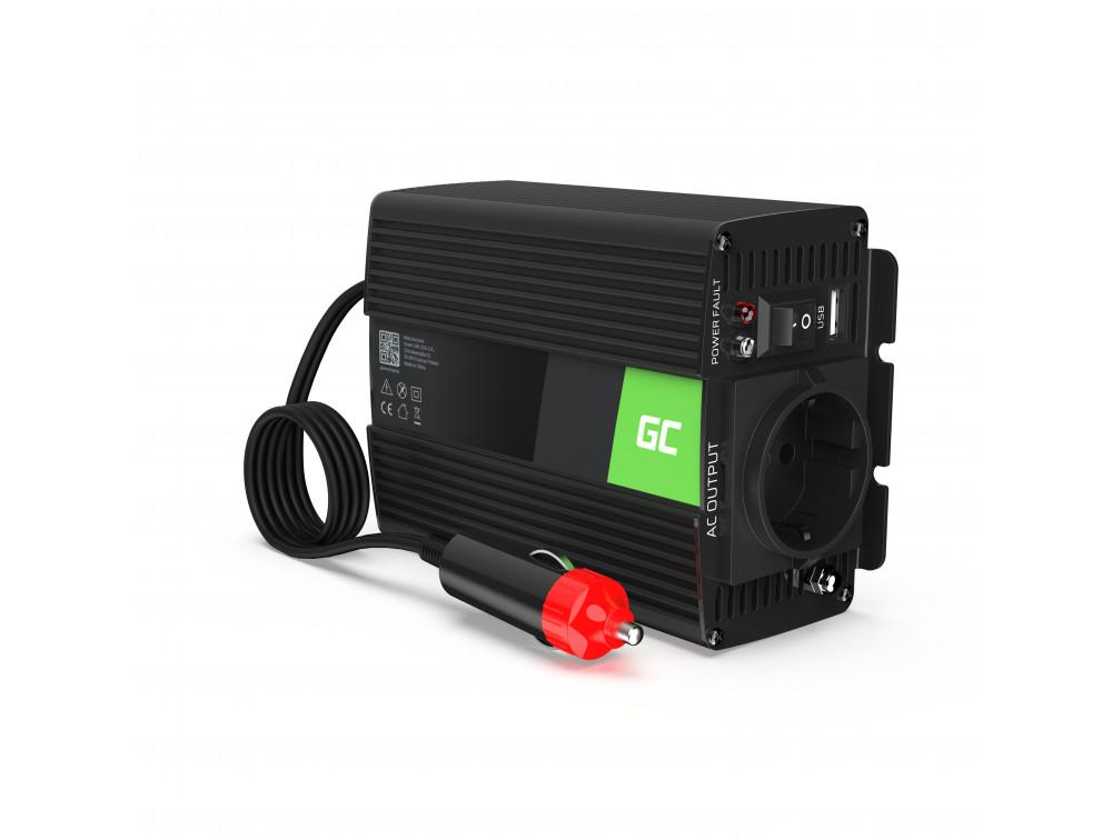 Green Cell autós inverter módosított szinuszos 12V 230V, 150W / 300W