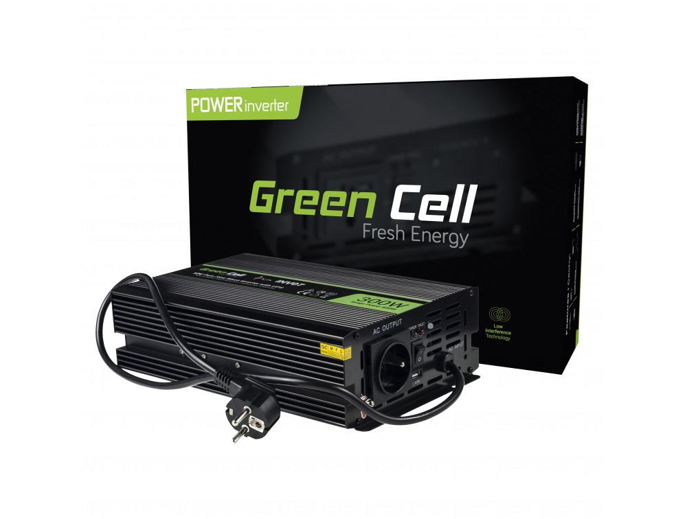 Green Cell autós inverter tiszta szinuszos 300W/600W UPS központi fűtéshez
