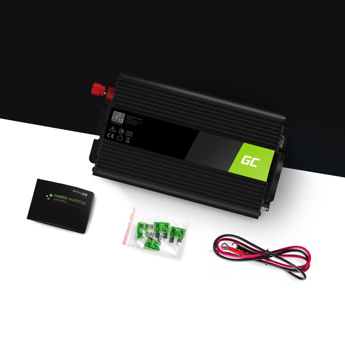 Měnič napětí do auta z 24V na 230V, 500W/1000W - čistá sinusovka