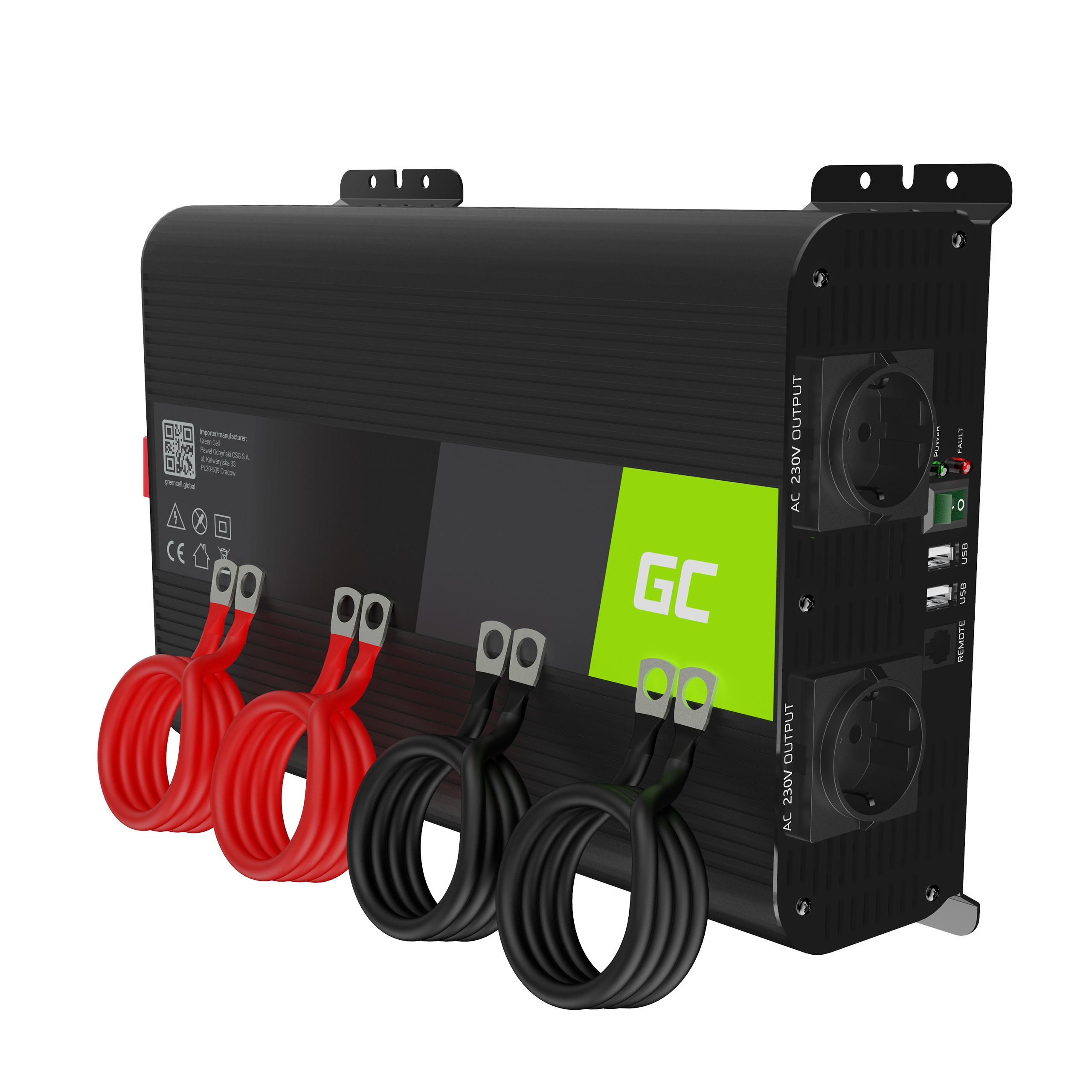 Inverter Green Cell PRO 12V na 230V 2000W/4000W Pure sine