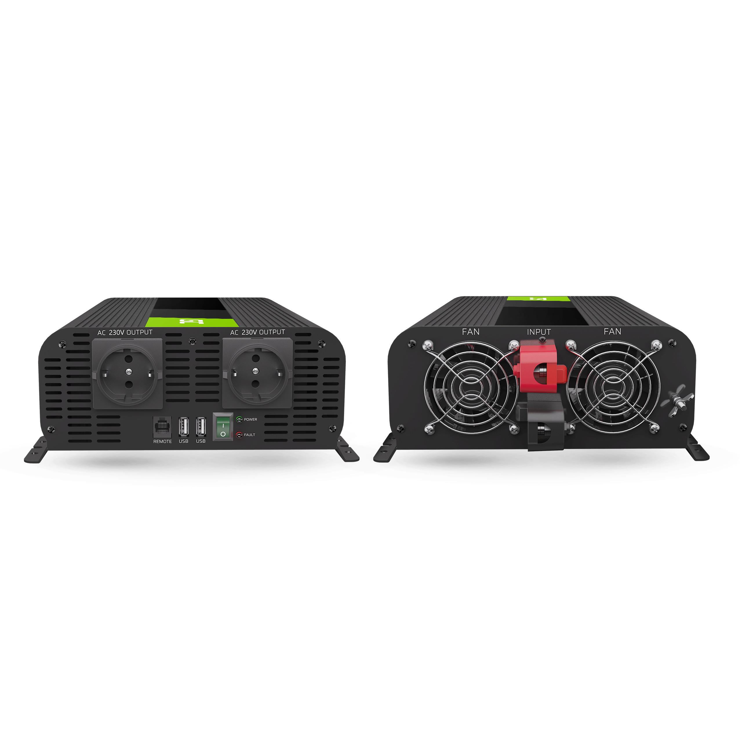 Green Cell Auto měnič napětí z 12V na 230V, 2000W/4000W - čistý sinus