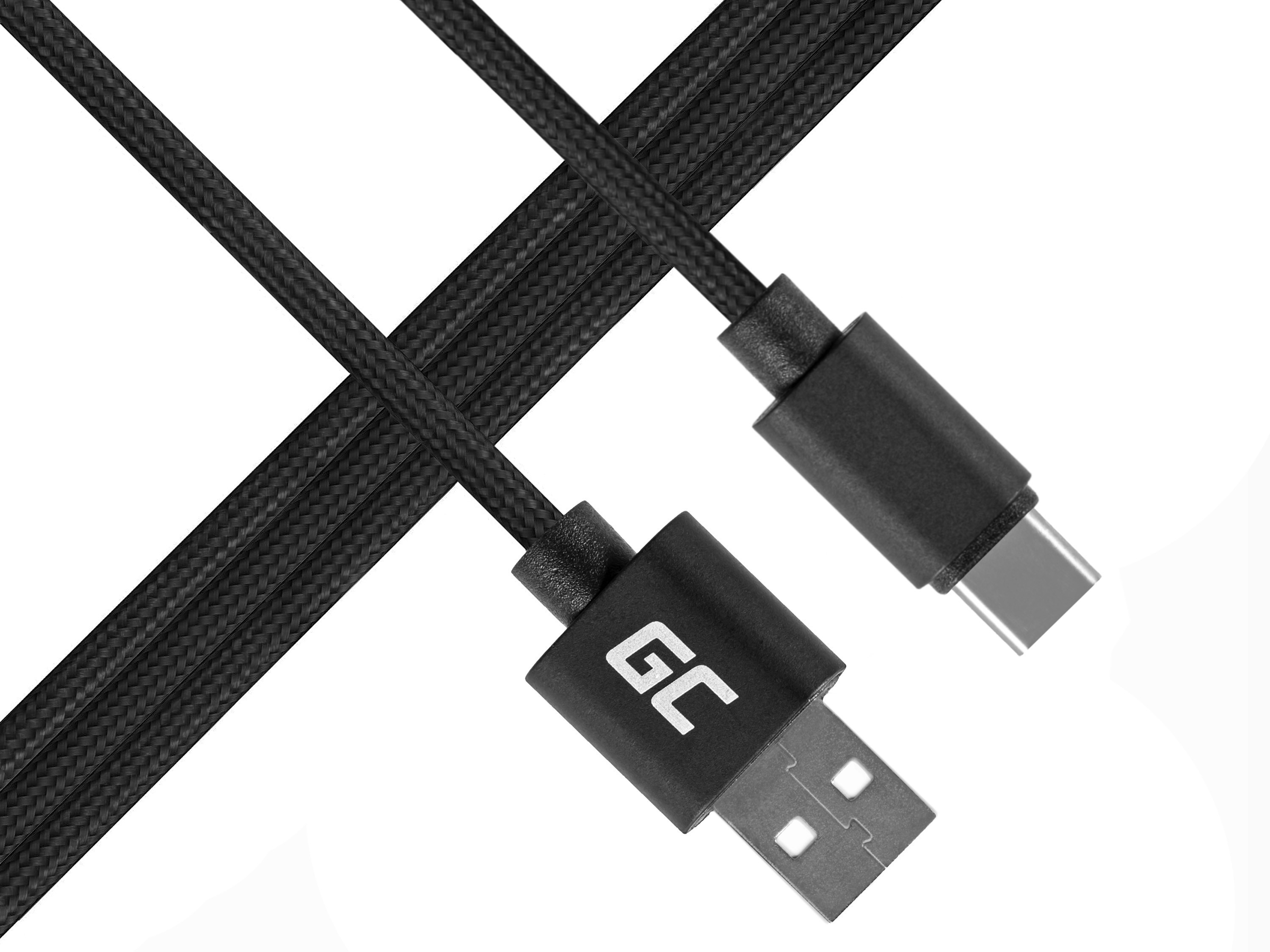 Green Cell USB-C Nylon 1m cable