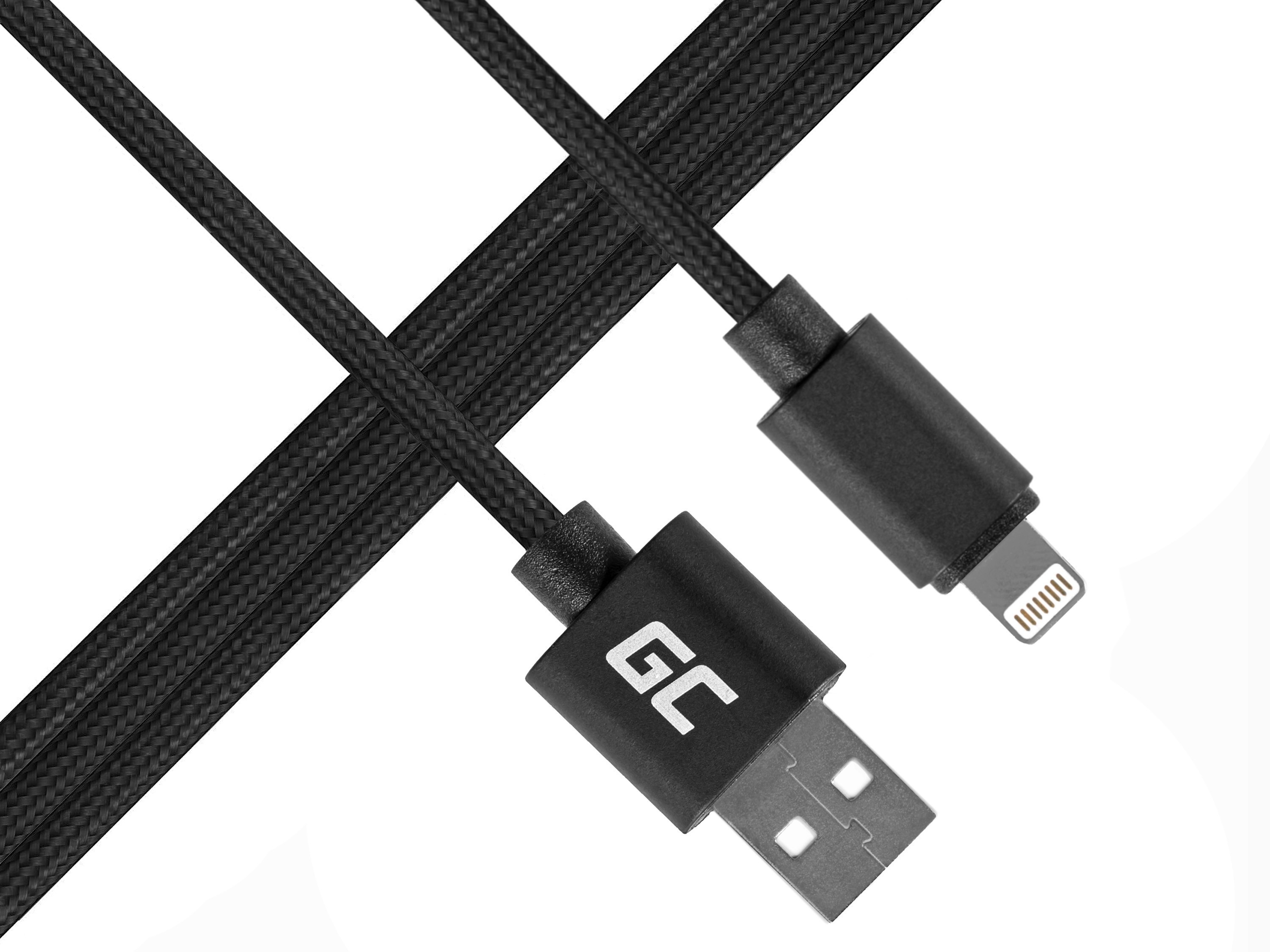 Green Cell Lightning-USB for Apple iPhone iPad Nylon 1m cable