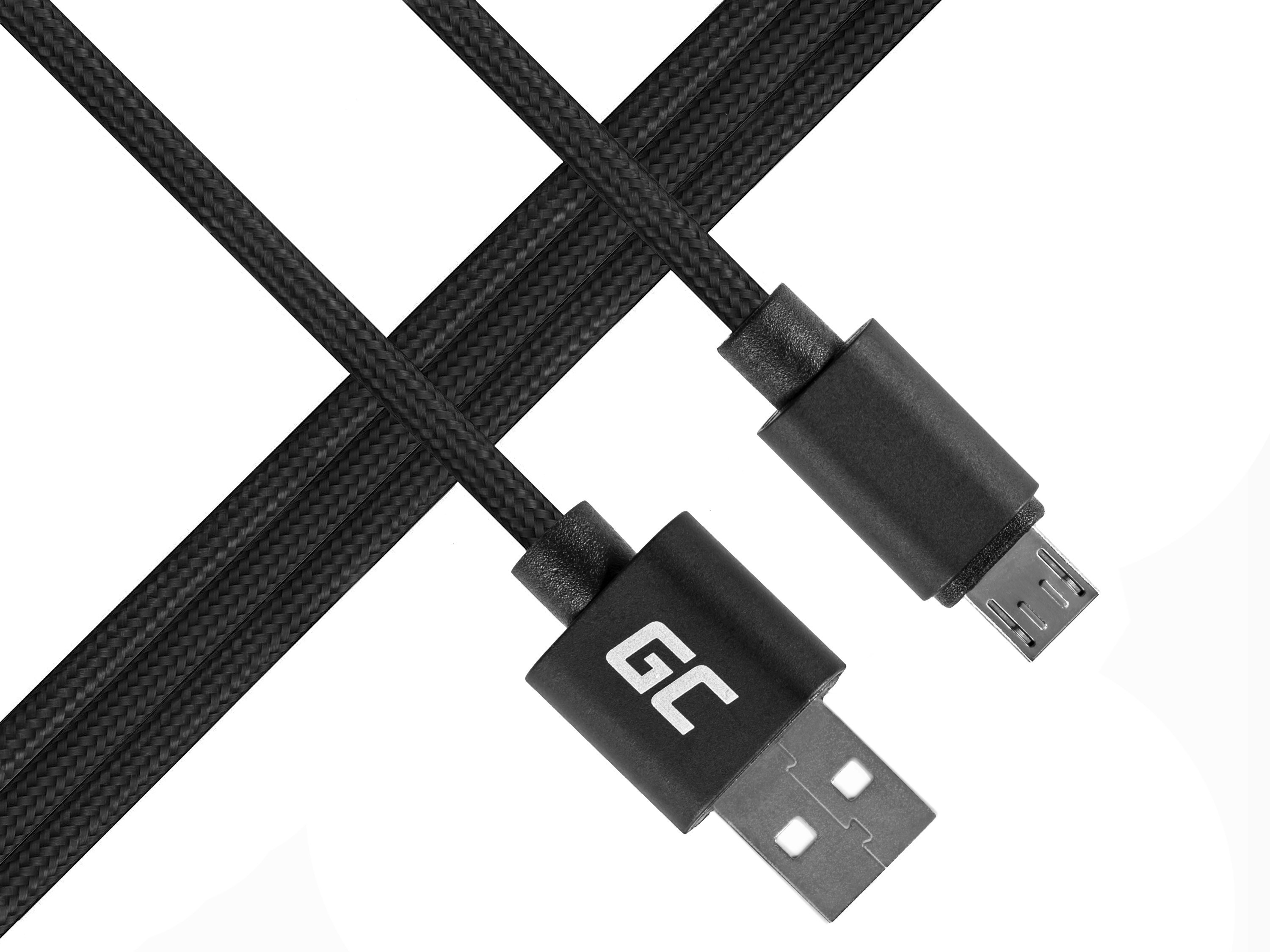 Green Cell micro USB Nylon 1m cable