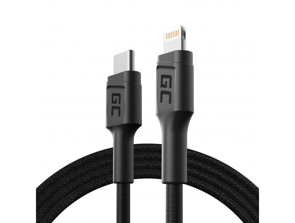 Green Cell USB-C - Lightning kábel 100 cm