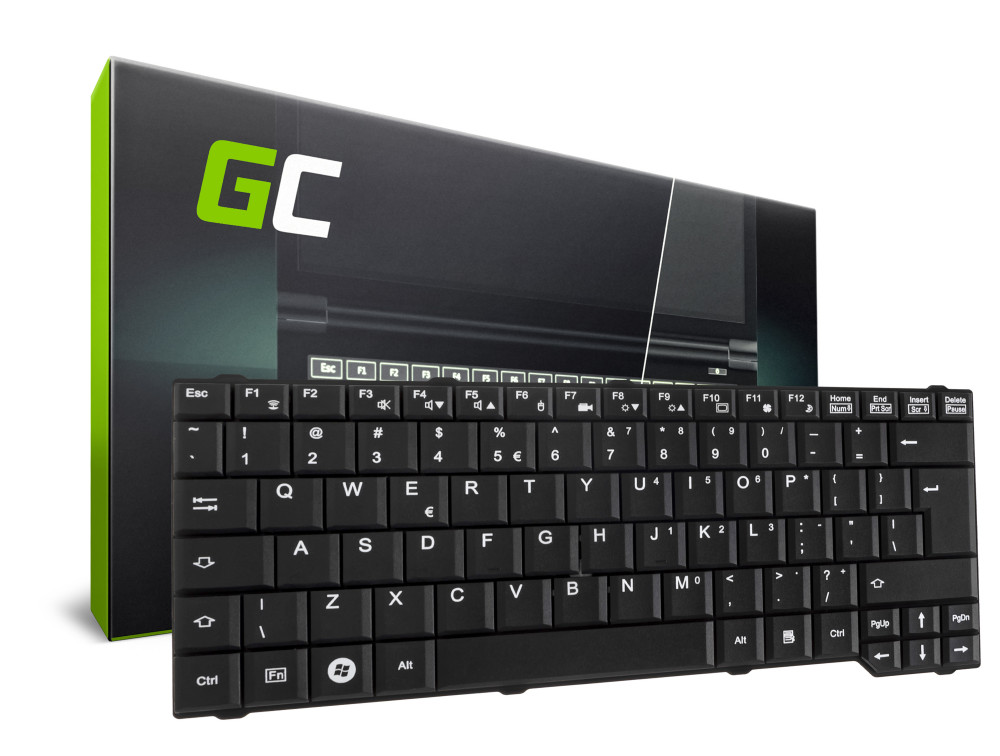 Green Cell laptop billentyűzet Fujitsu-Siemens Celsius H265 H270 angol nyelvű