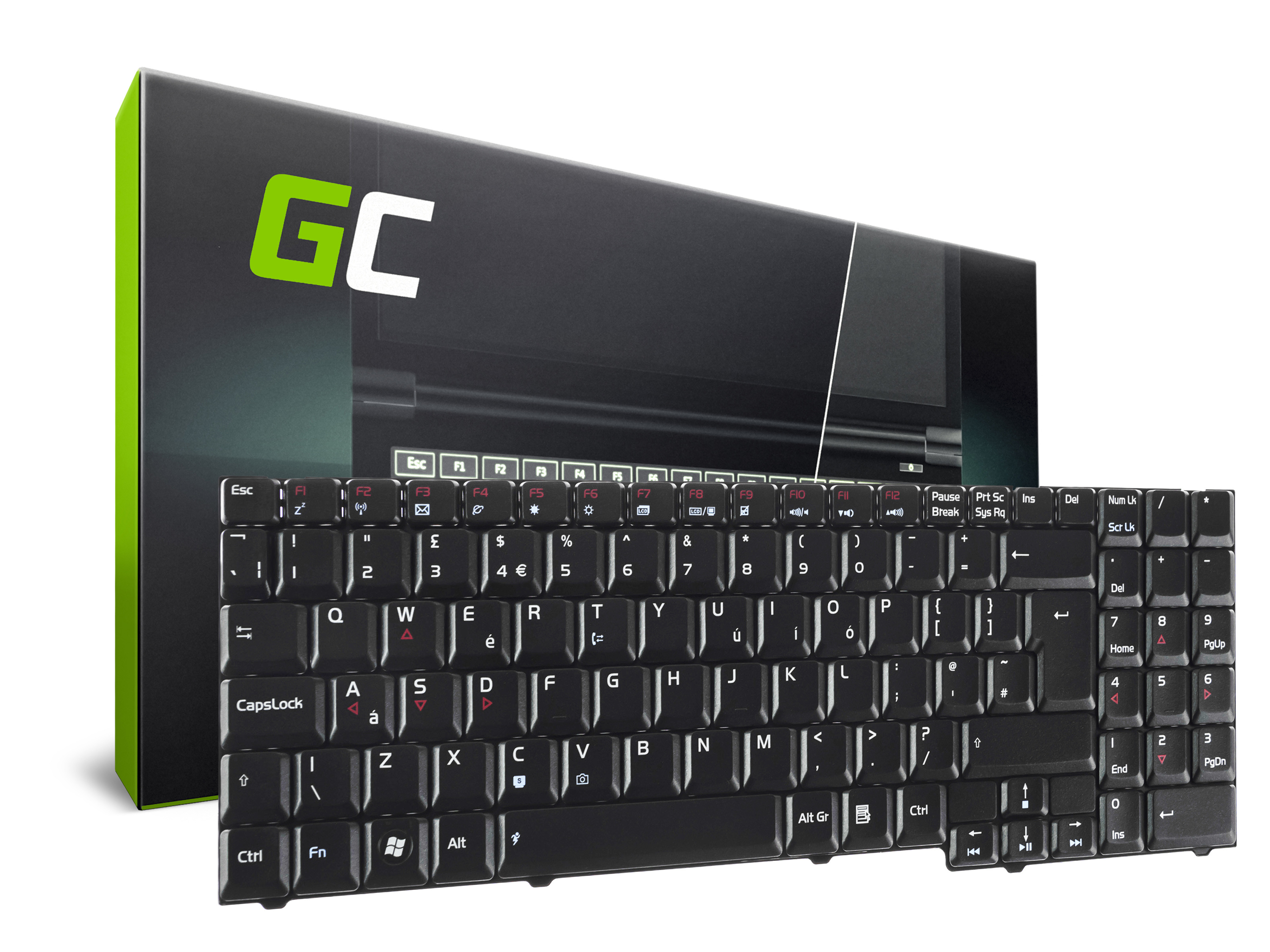Green Cell Klávesnice pro notebook Asus G50 G70 G71 M50 M70 X57