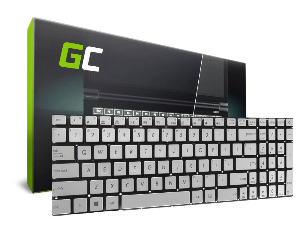 Green Cell laptop billentyűzet Asus N551 N552 N551J N552V angol nyelvű