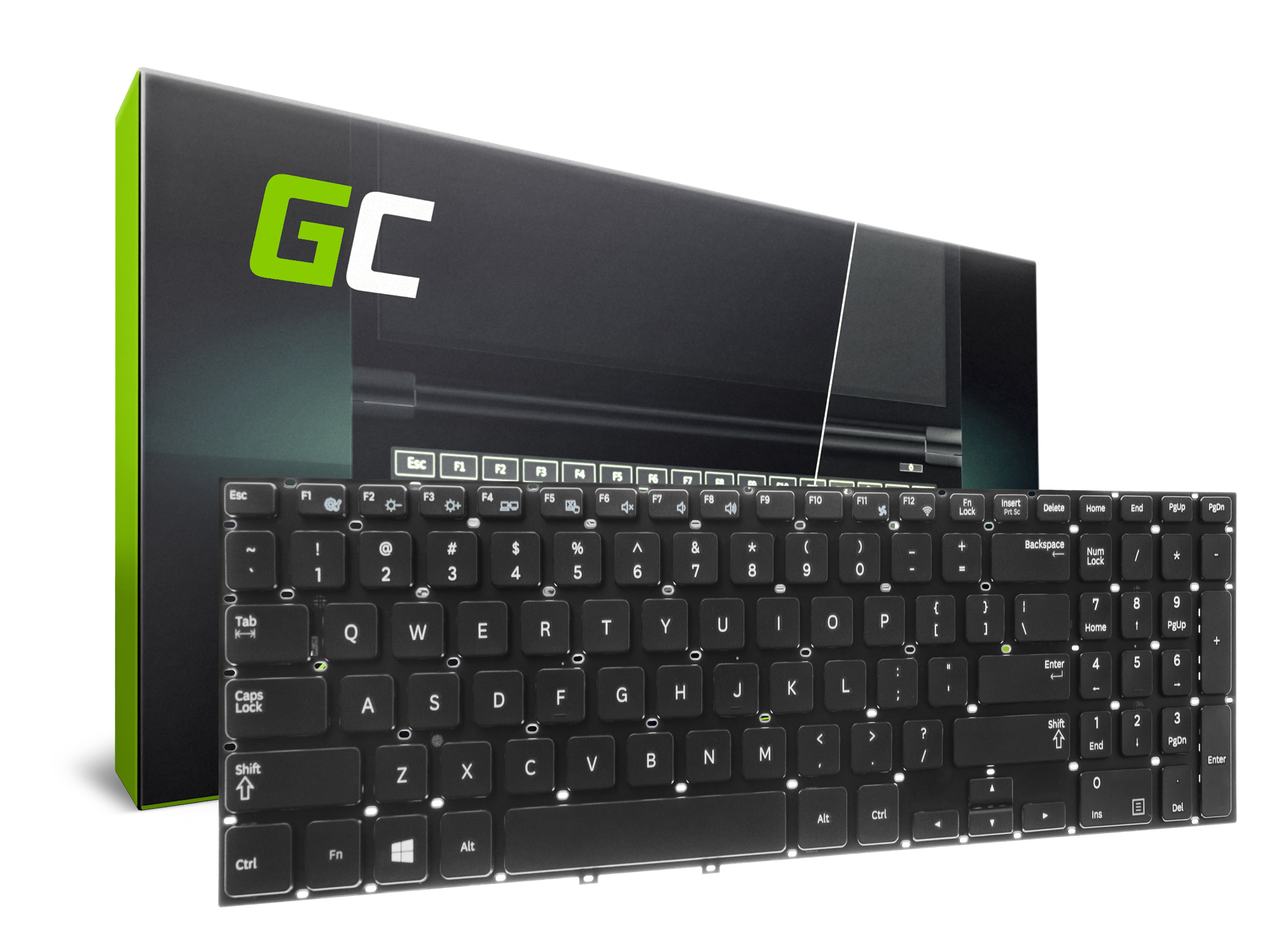 Green Cell Klávesnice pro notebook Samsung 350P7C NP350P7C