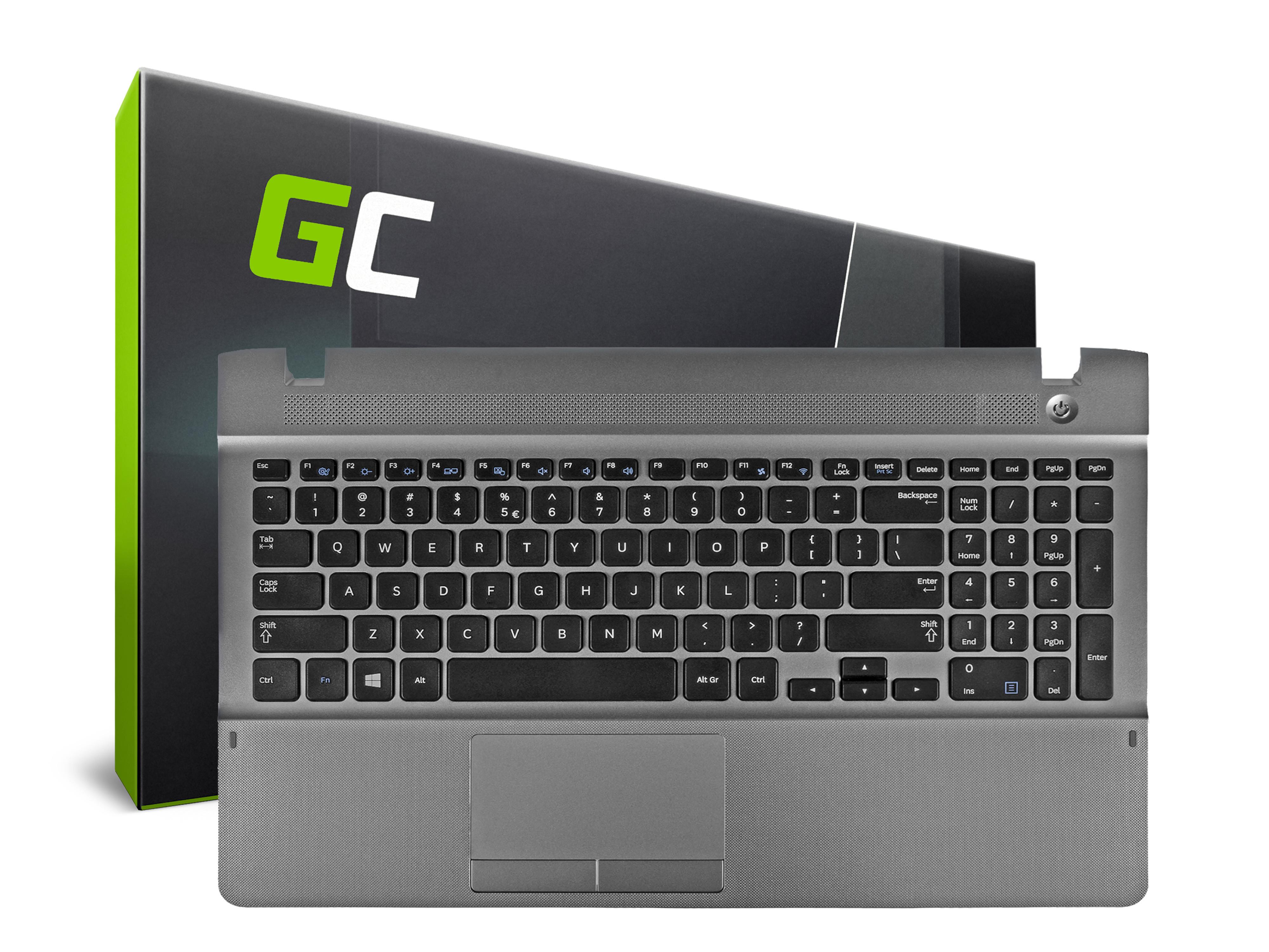 Green Cell Klávesnice pro notebook Samsung 270E5E 270E5U 270E5V 275E5E NP300E5E Palmrest