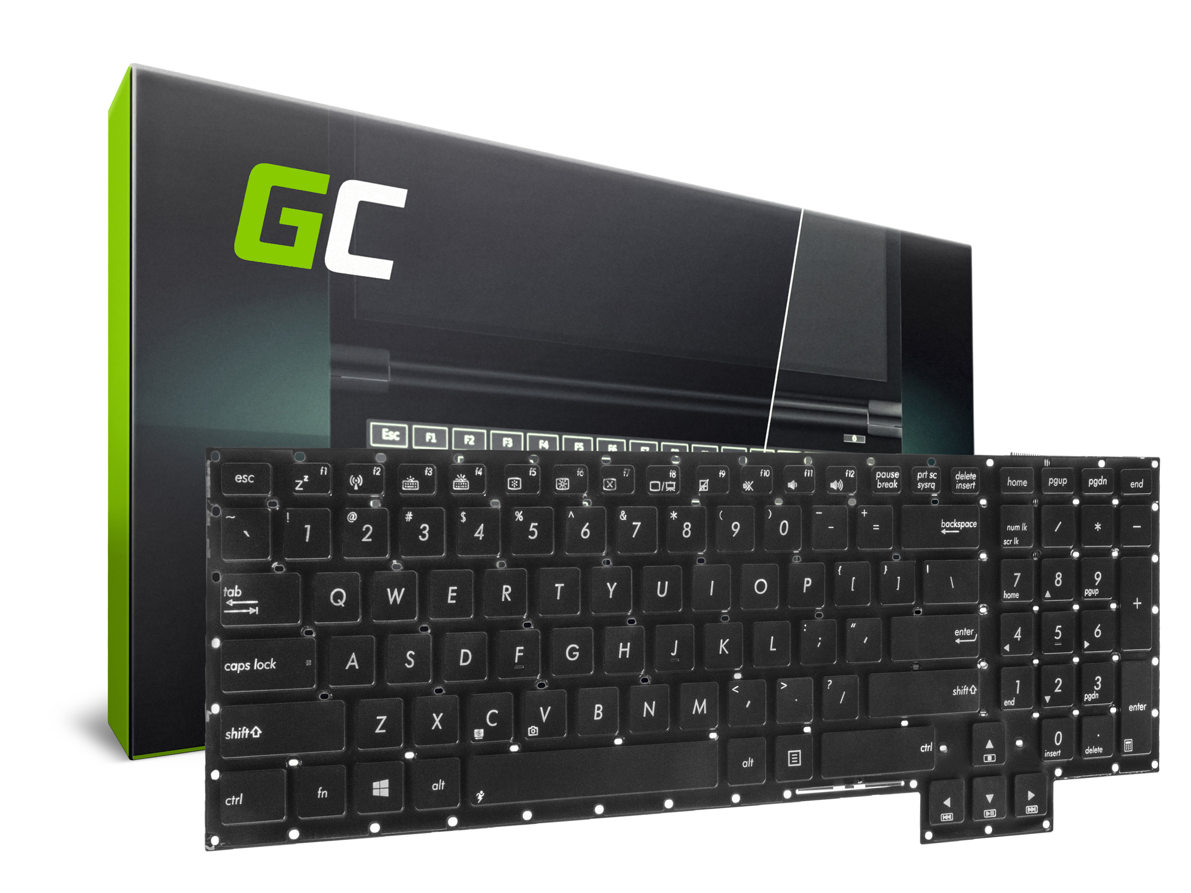Green Cell Klávesnice pro notebook Asus ROG G750 G750J G750JH G750JM G750JS G750JW