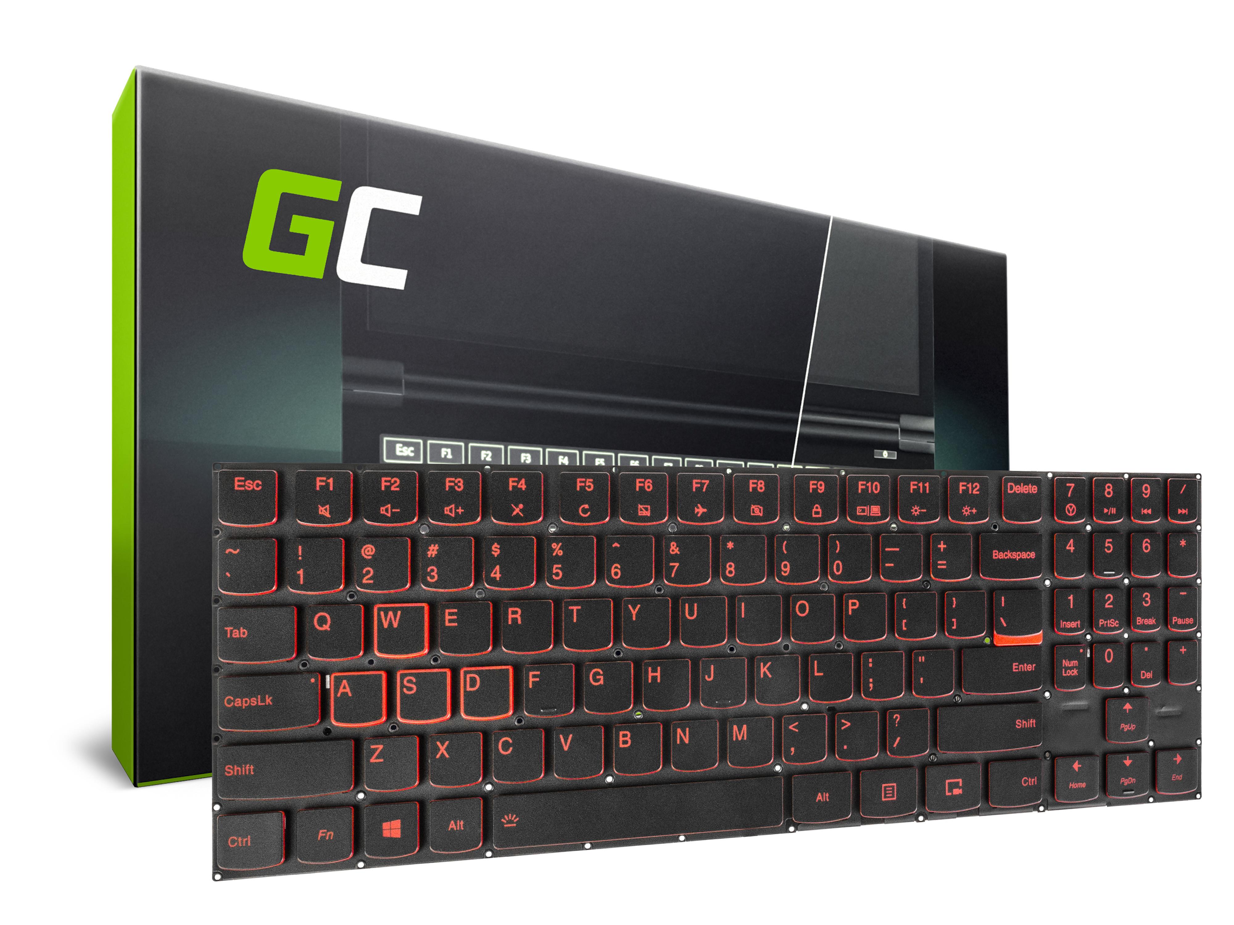 Green Cell Laptop Keyboard for Lenovo Legion Y520 Y520-15 Y720 Y720-15 Backlit