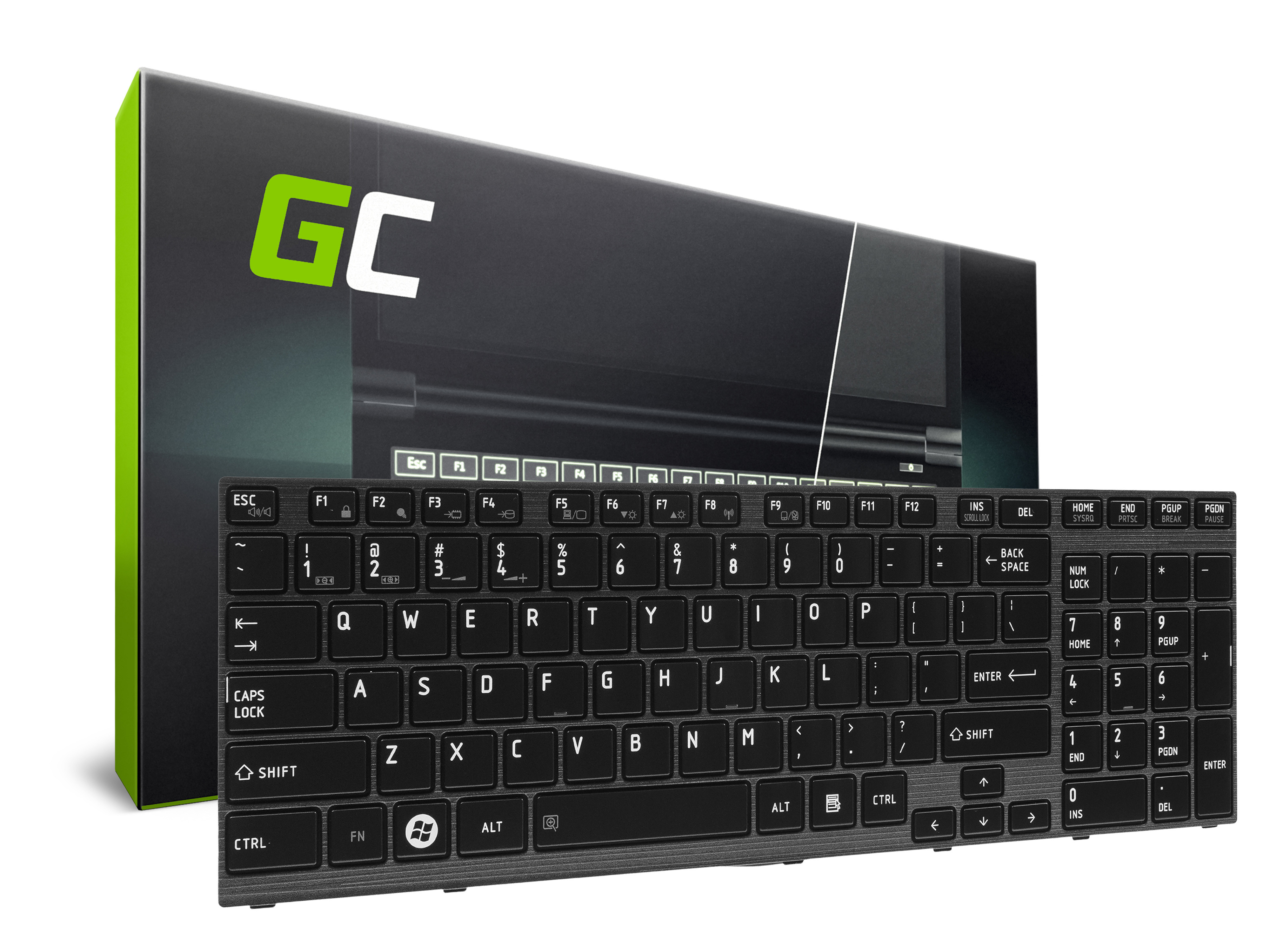 Green Cell Klávesnice pro notebook Toshiba Satellite P750 P750D P755 P755D P770 P770D P775 P775D