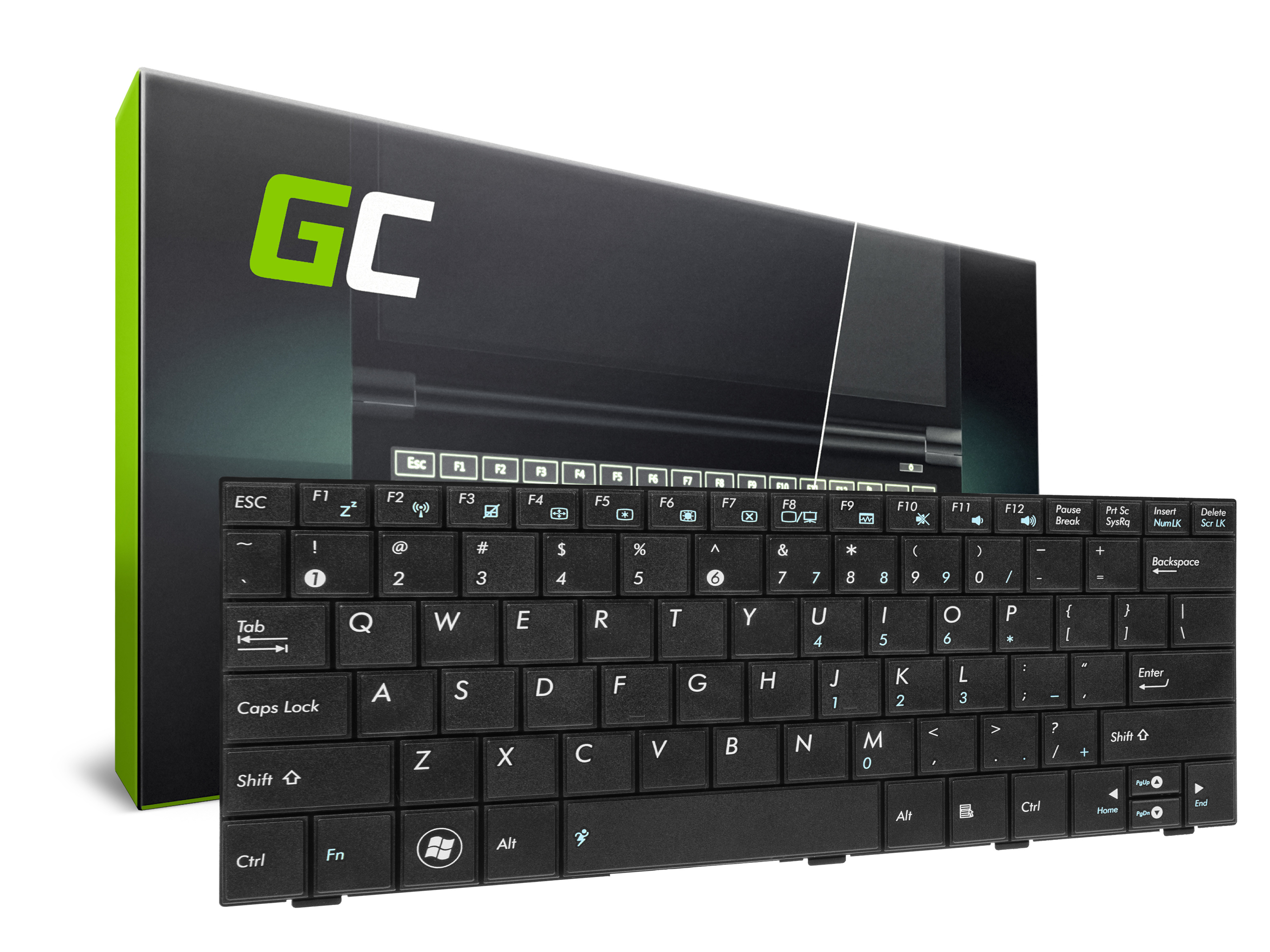 Green Cell ® Keyboard for Laptop Asus Eee-PC 1001 1001PXD 1005 1005HA