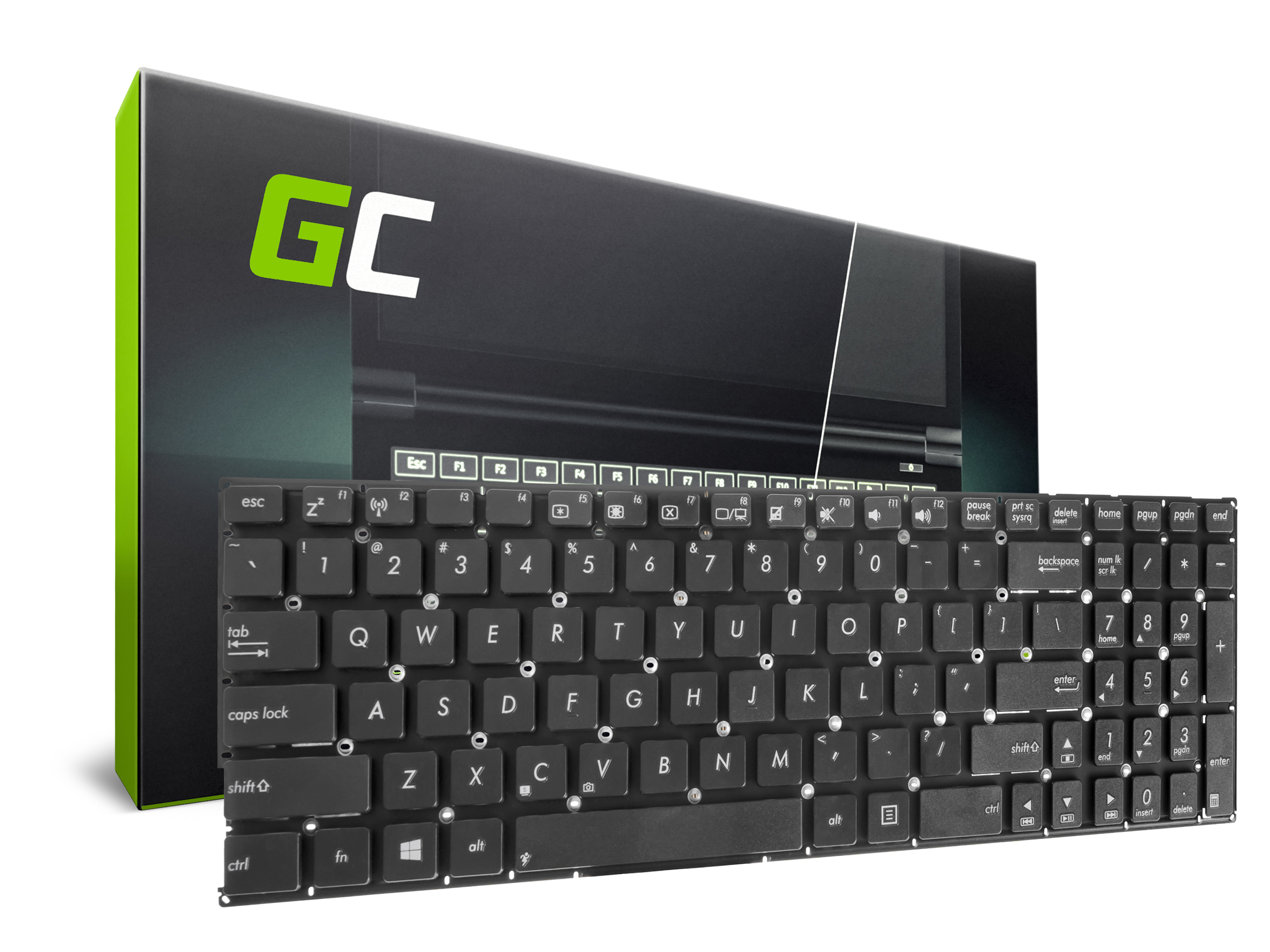 Green Cell Klávesnice pro notebook Asus K56 K56C K56CA K56CB K56CM
