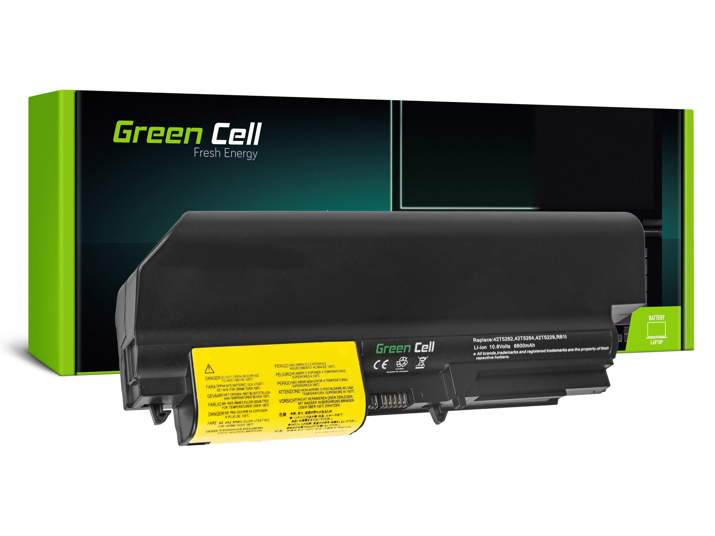 Green Cell LE04 Baterie Lenovo IBM Thinkpad T61 R61 T400 R400 WIDE 6600mAh Li-ion - neoriginální