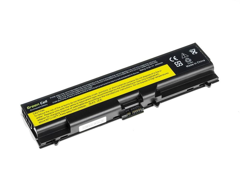 Green Cell Battery for Lenovo ThinkPad T410 T420 T510 T520 W510 / 11,1V 4400mAh
