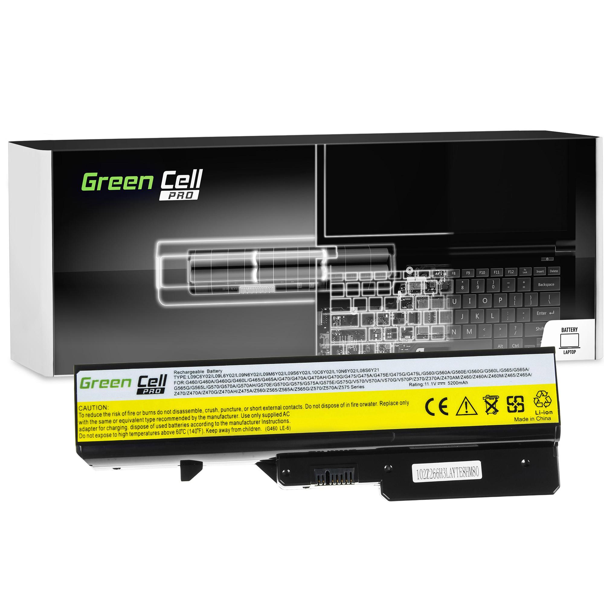 Green Cell PRO Battery for Lenovo G460 G560 G570 / 11,1V 5200mAh