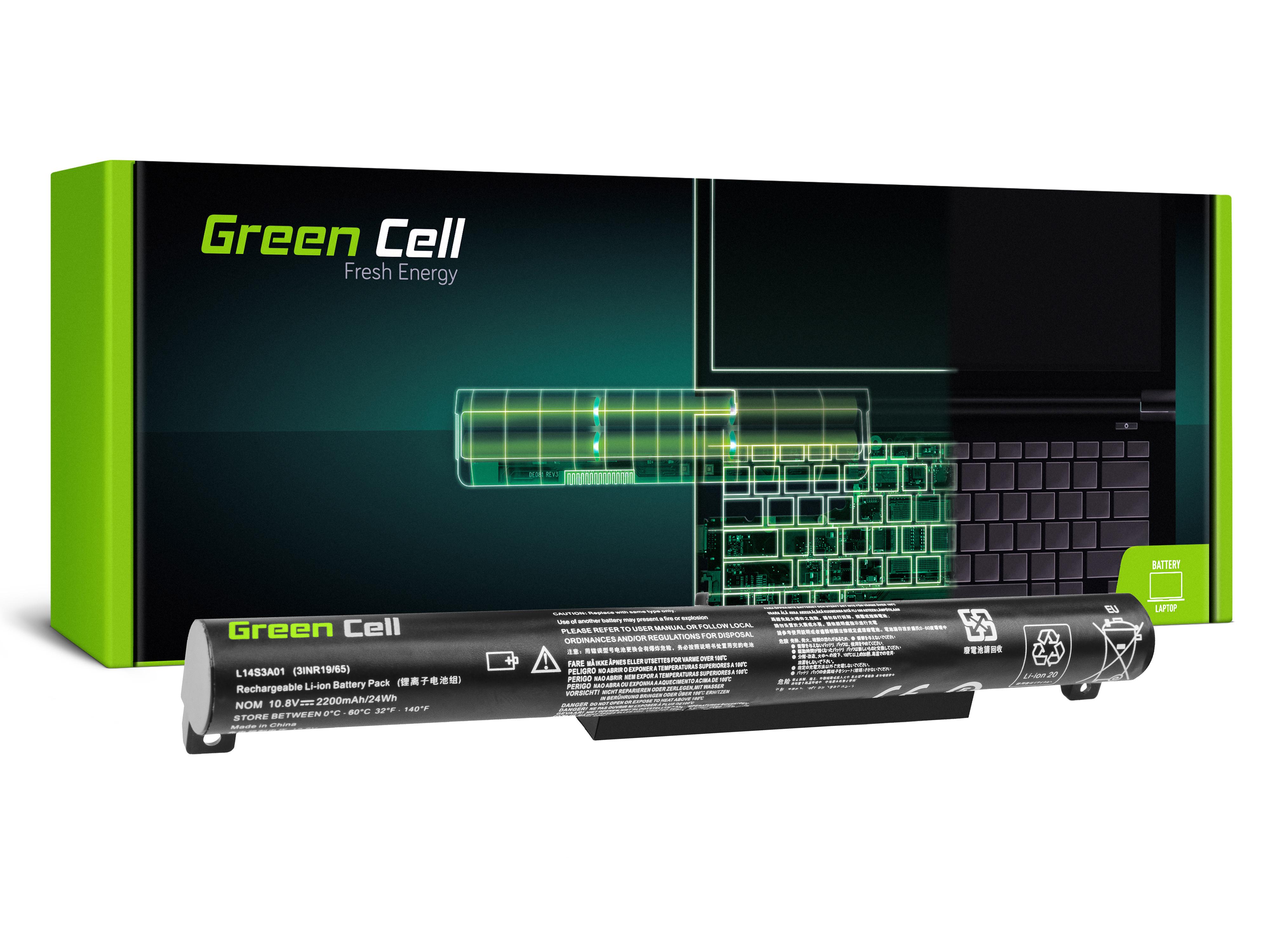 Green Cell LE120 Baterie Lenovo L14C3A01 L14S3A01 Lenovo B50-10 2200mAh Li-Pol – neoriginální