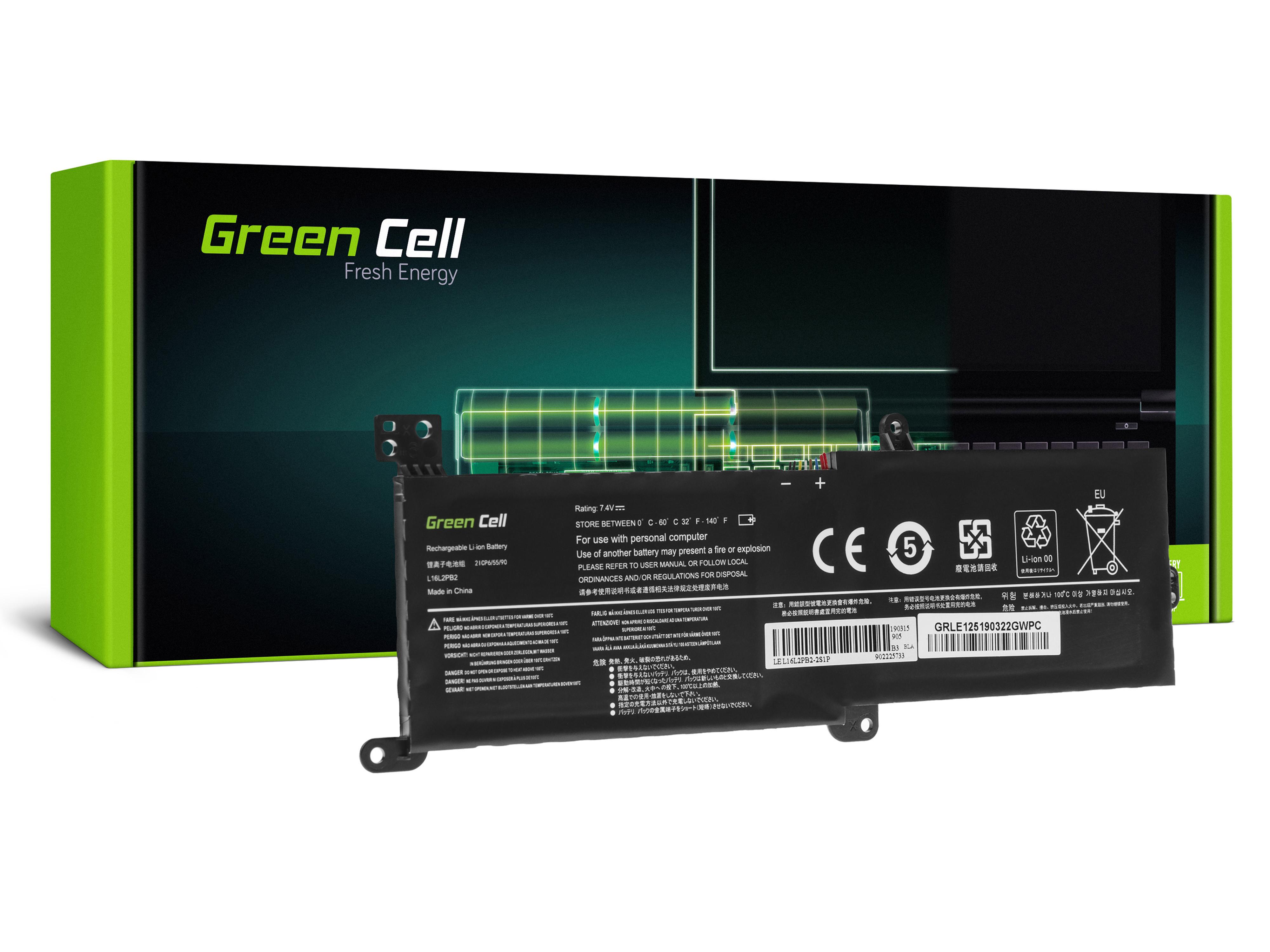 Green Cell LE125 Baterie Lenovo IdeaPad 320-14IKB 320-15ABR 320-15AST 320-15IAP 320-15IKB 320-15ISK 330-15IKB 520-15IKB 3500mAh Li-Pol – neoriginální