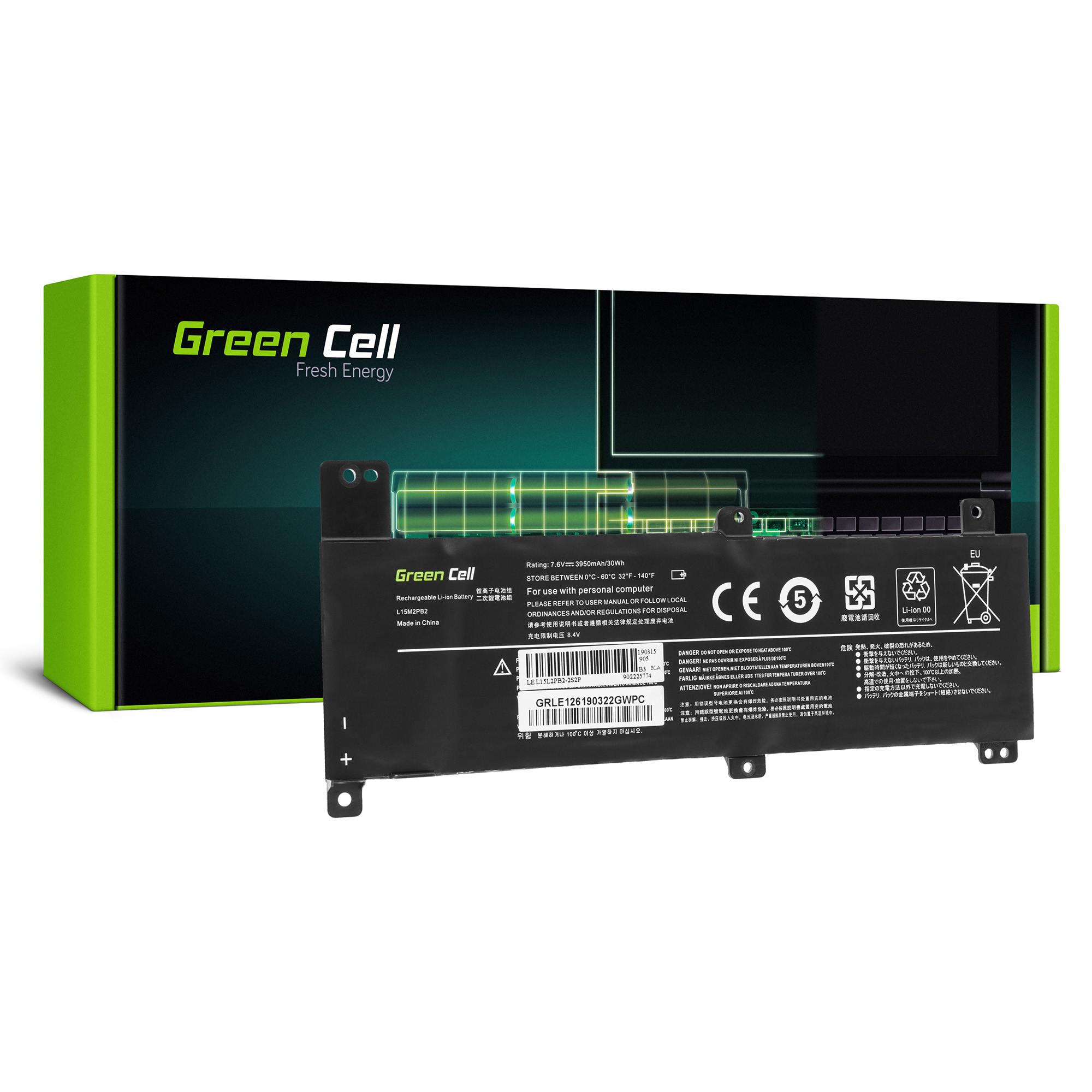 Green Cell LE126 Baterie Lenovo L15C2PB2 L15C2PB4 L15L2PB2 L15M2PB2 Lenovo IdeaPad 310-14IAP 310-14IKB 310-14ISK 3950mAh Li-Pol – neoriginální