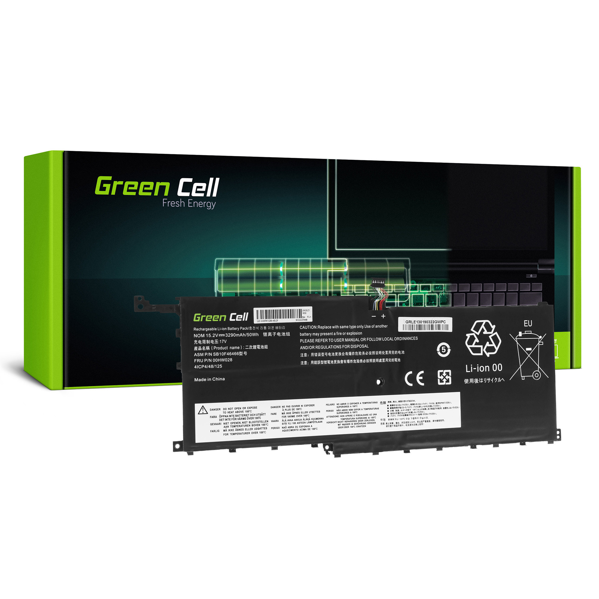Green Cell Baterie 00HW028 pro Lenovo ThinkPad X1 Carbon 4th Gen i Lenovo ThinkPad X1 Yoga (1st Gen, 2nd Gen)