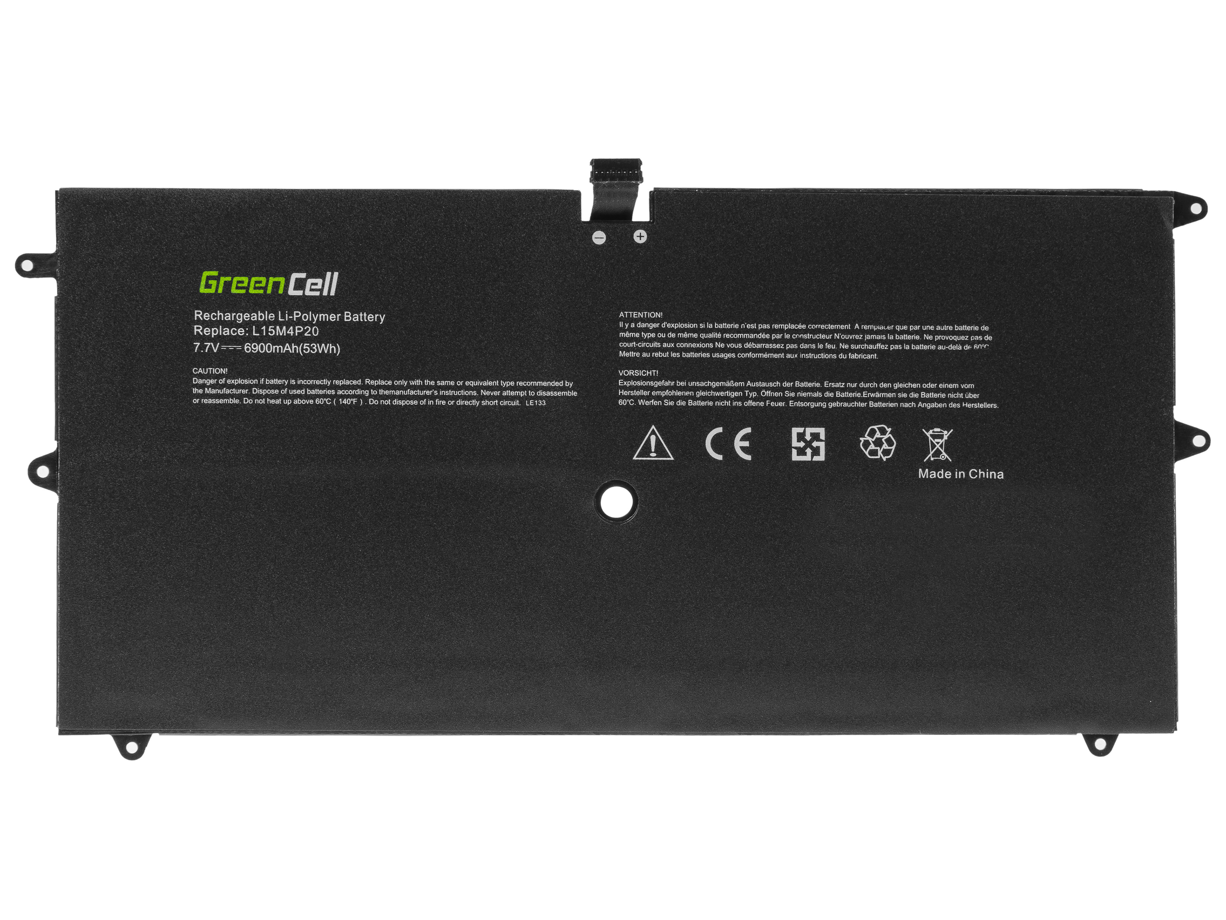 Green Cell Battery L15L4P20 L15M4P20 for Lenovo Yoga 900S-12ISK
