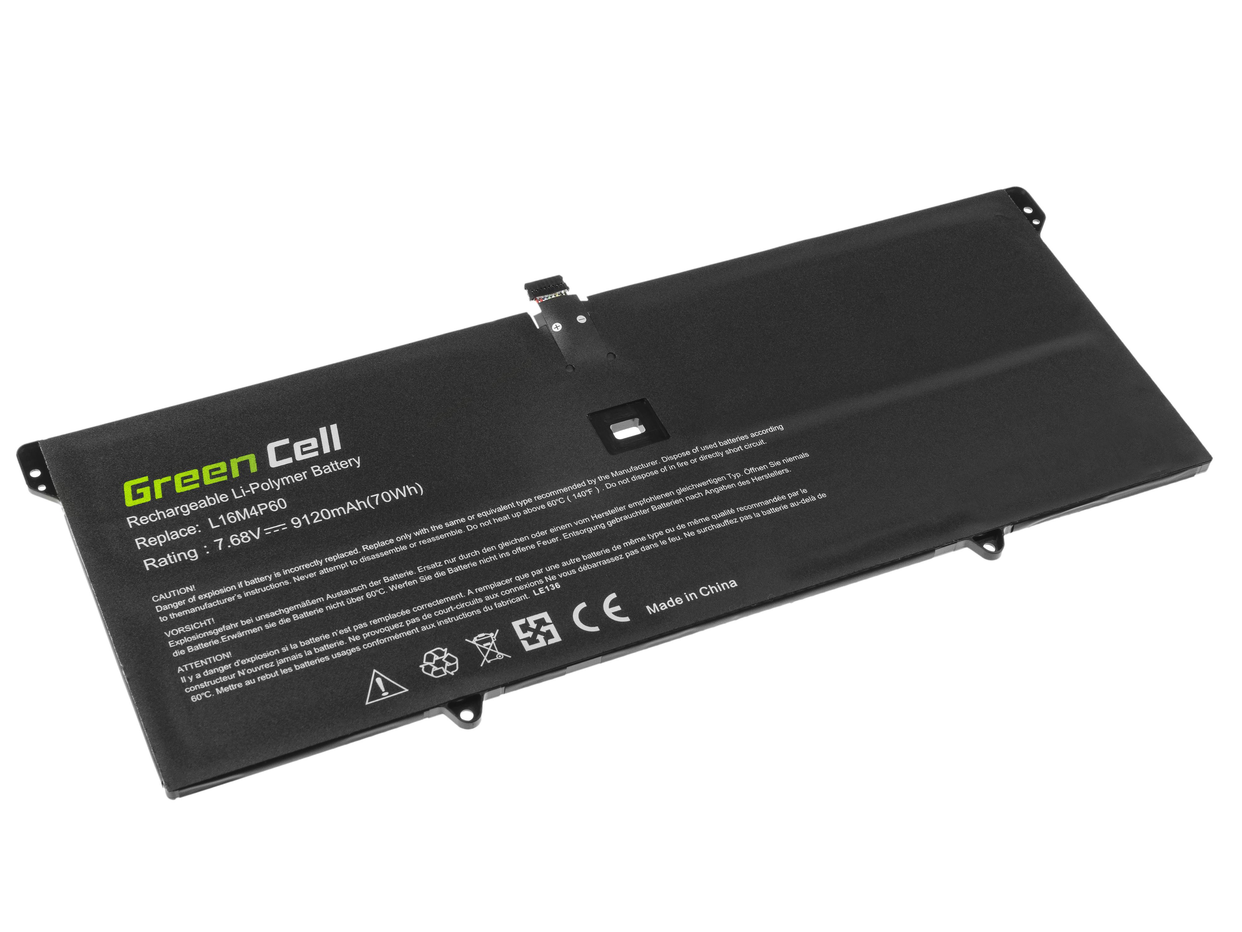 Green Cell LE134 Baterie Lenovo L16C4P61 L16M4P60,Lenovo Yoga 920-13IKB 8800mAh Li-Pol – neoriginální