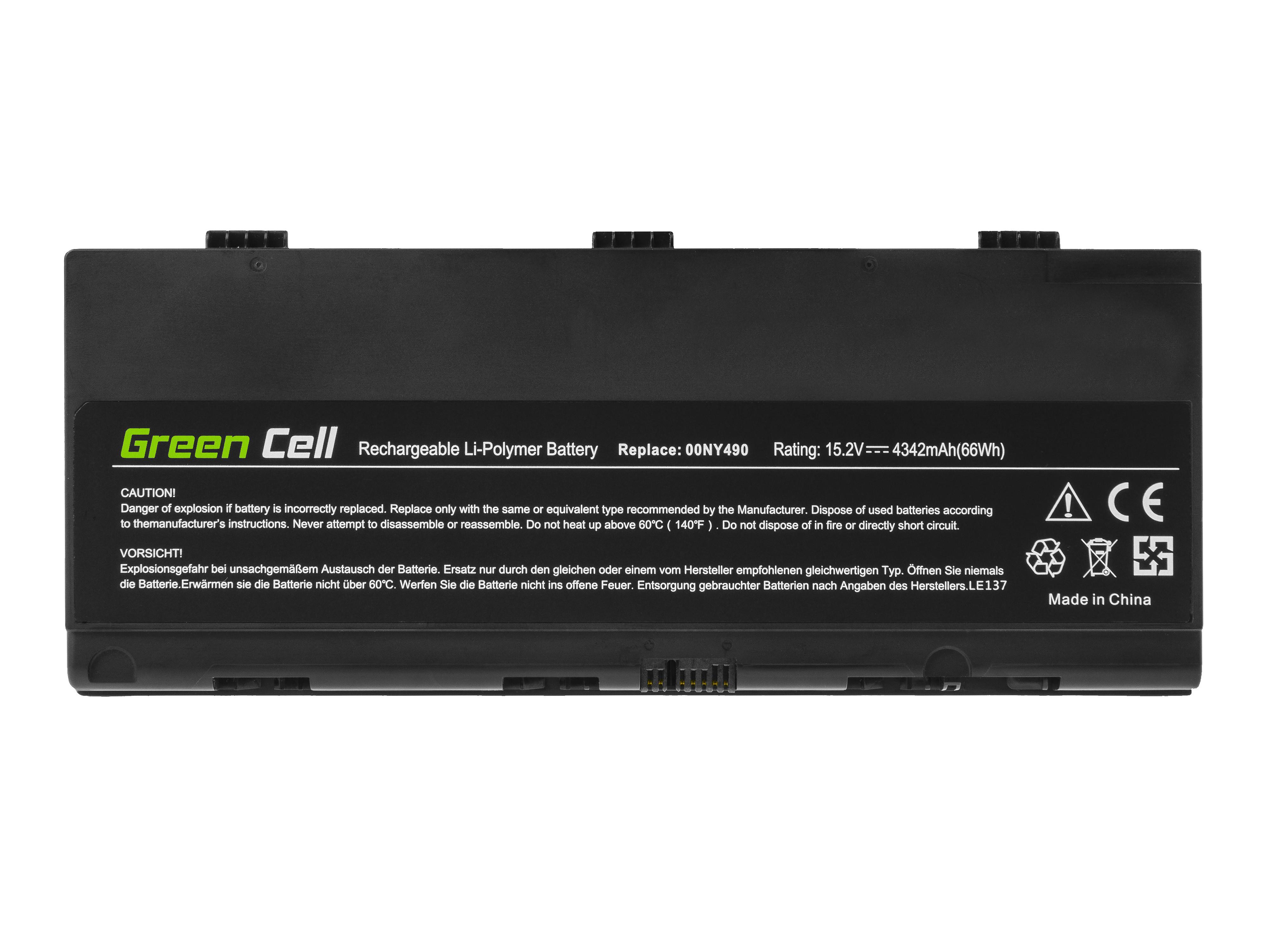 Green Cell LE137 Baterie Lenovo 00NY490 00NY491, Lenovo ThinkPad P50 P51 4342mAh Li-Pol – neoriginální