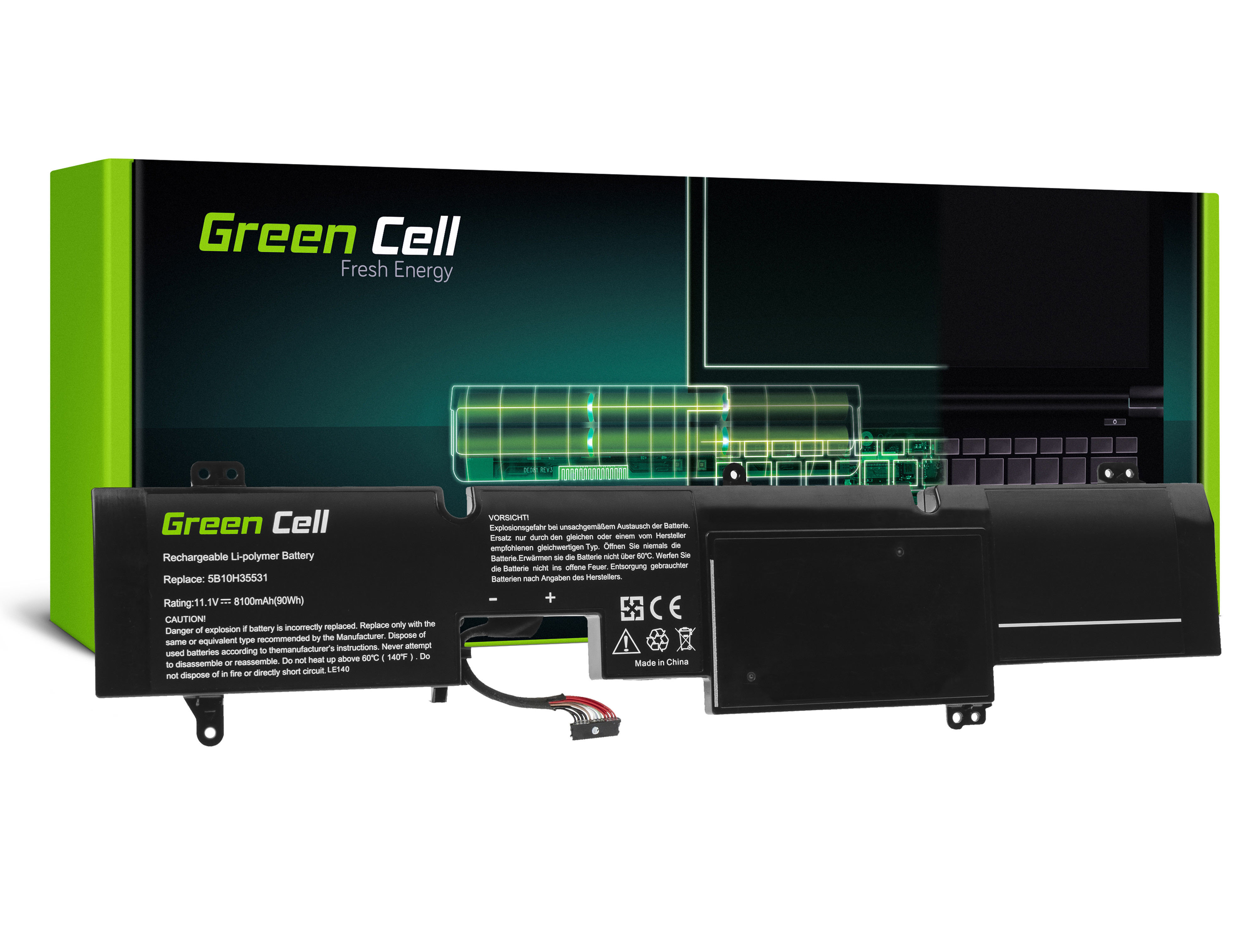 Green Cell LE140 Baterie Lenovo L14M6P21 pro Lenovo IdeaPad Y900-17ISK Y910-17ISK 8100mAh Li-Pol – neoriginální