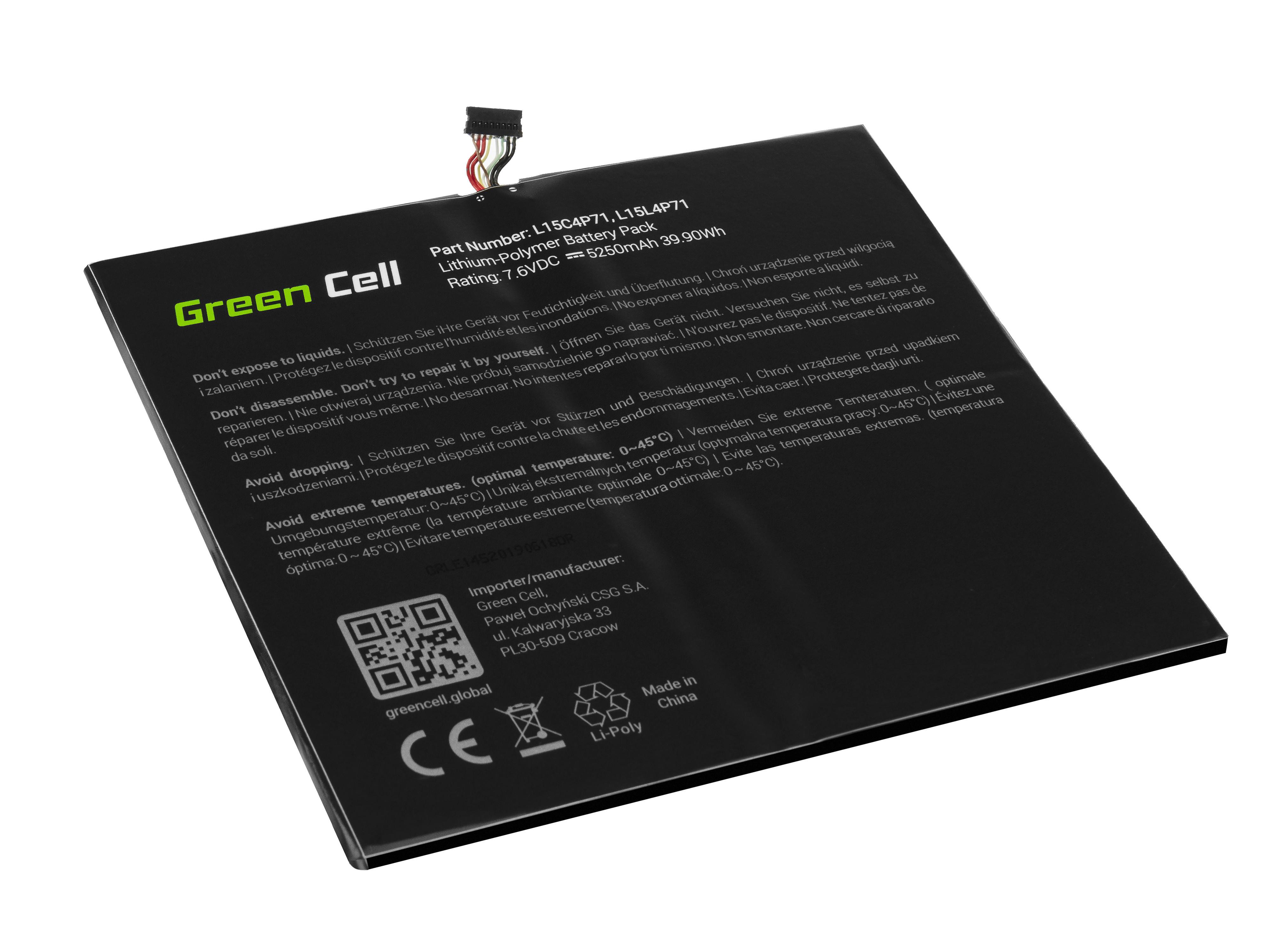 Green Cell LE145 Baterie Lenovo L15C4P71 L15L4P71 pro Lenovo Miix 700-12ISK 710-12IKB 5250mAh Li-Pol – neoriginální