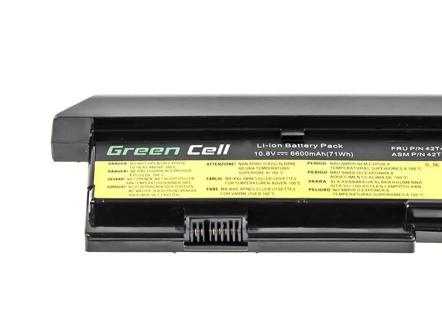 Green Cell Battery for Lenovo ThinkPad X200 X201 X200s X201i / 11,1V 6600mAh