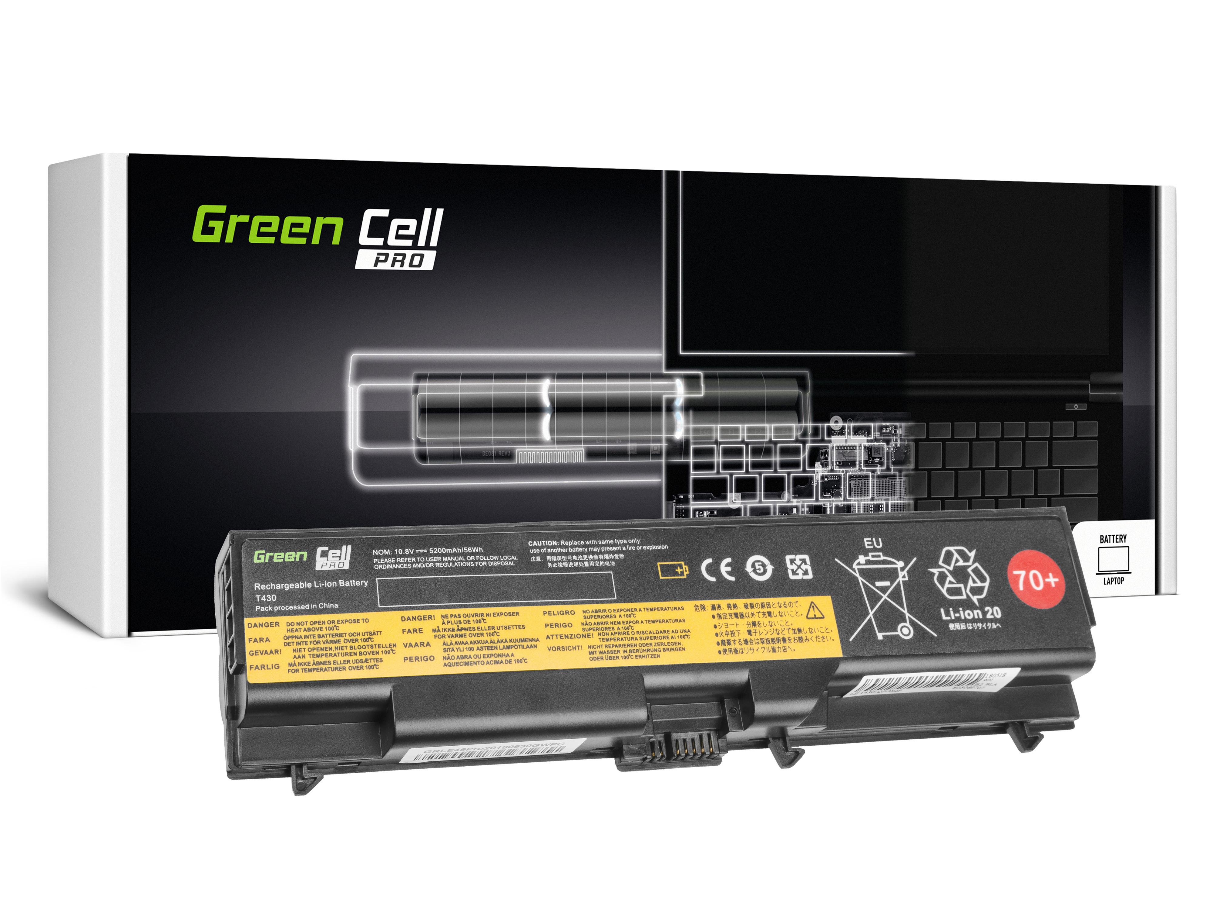 Green Cell LE49PRO Baterie Lenovo 45N1001 Lenovo ThinkPad L430 T430i L530 T430 T530 T530i 5200mAh Li-ion - neoriginální