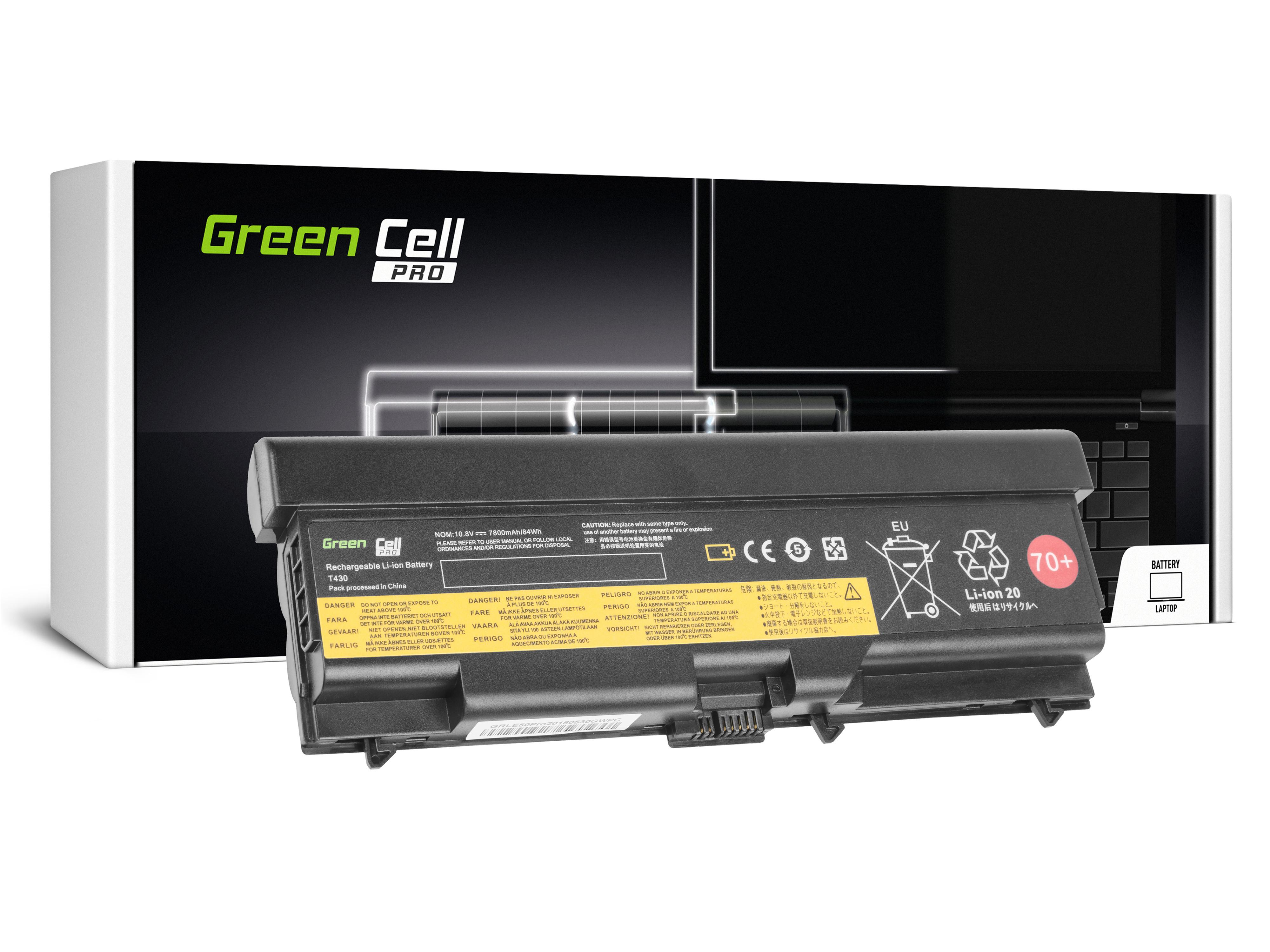 Green Cell LE50PRO Baterie IBM 45N1001 Lenovo ThinkPad L430 T430i L530 T430 T530 T530i 7800mAh Li-ion - neoriginální