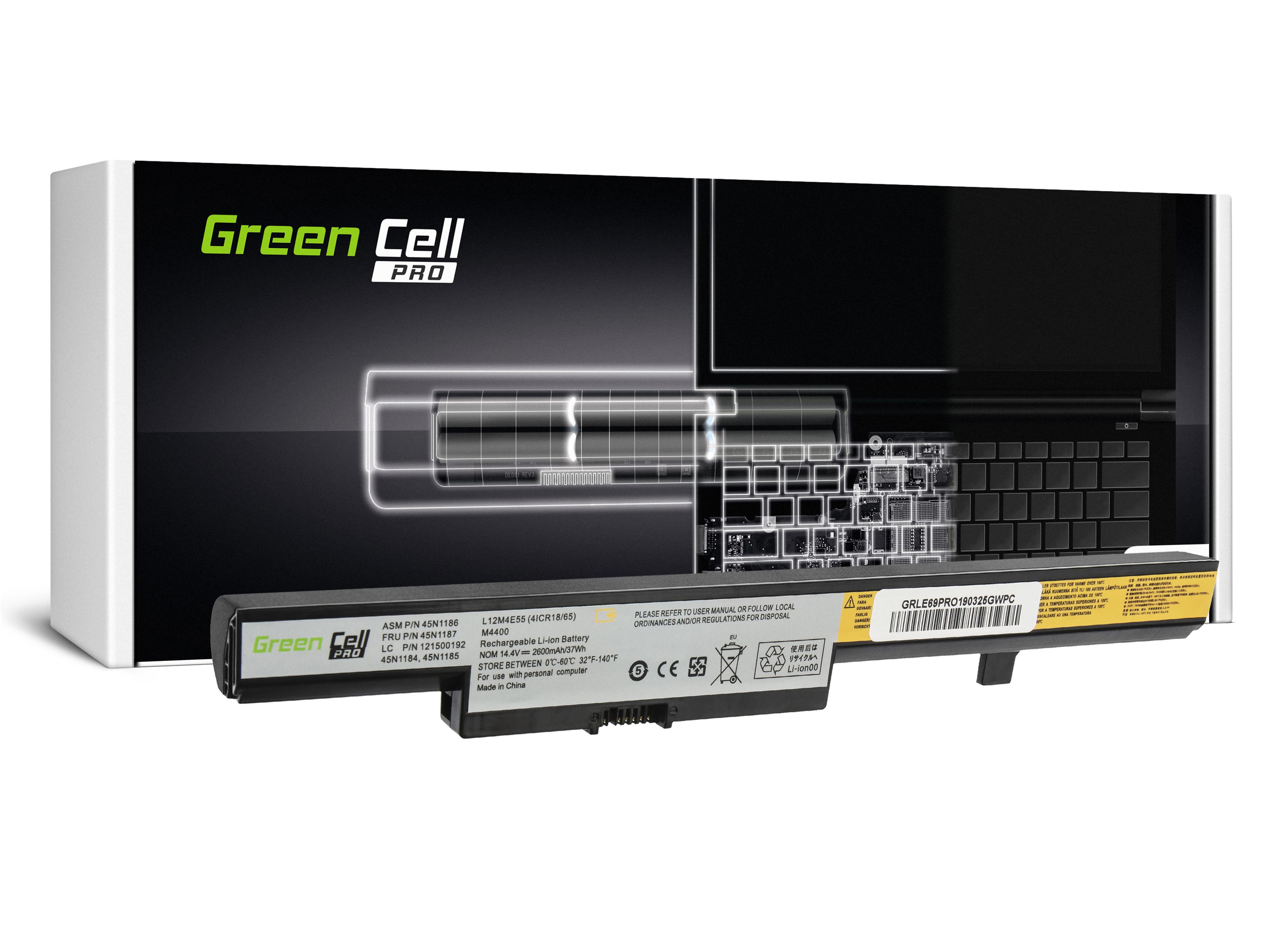 Green Cell LE69PRO Baterie Lenovo L13L4A01 L13M4A01 L13S4A01,Lenovo B50 B50-30 B50-45 B50-70 B50-80 B51-80 E50-80 2600mAh Li-ion - neoriginální