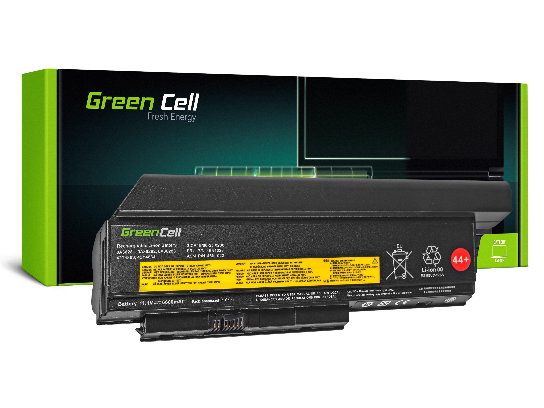 Green Cell Battery for Lenovo ThinkPad X220 X230 / 11,1V 6600mAh